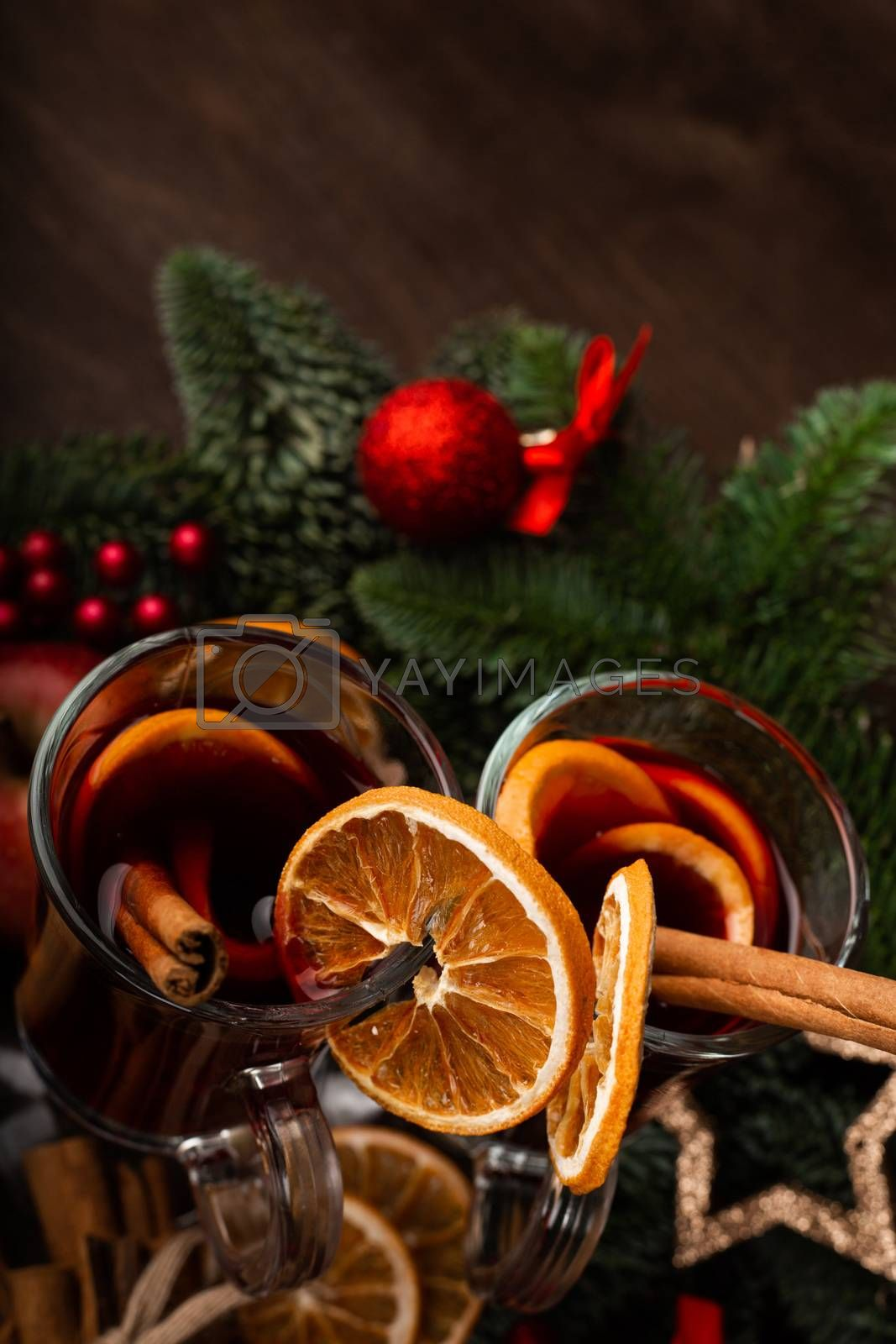 Royalty free image of Mulled wine for Christmas by destillat