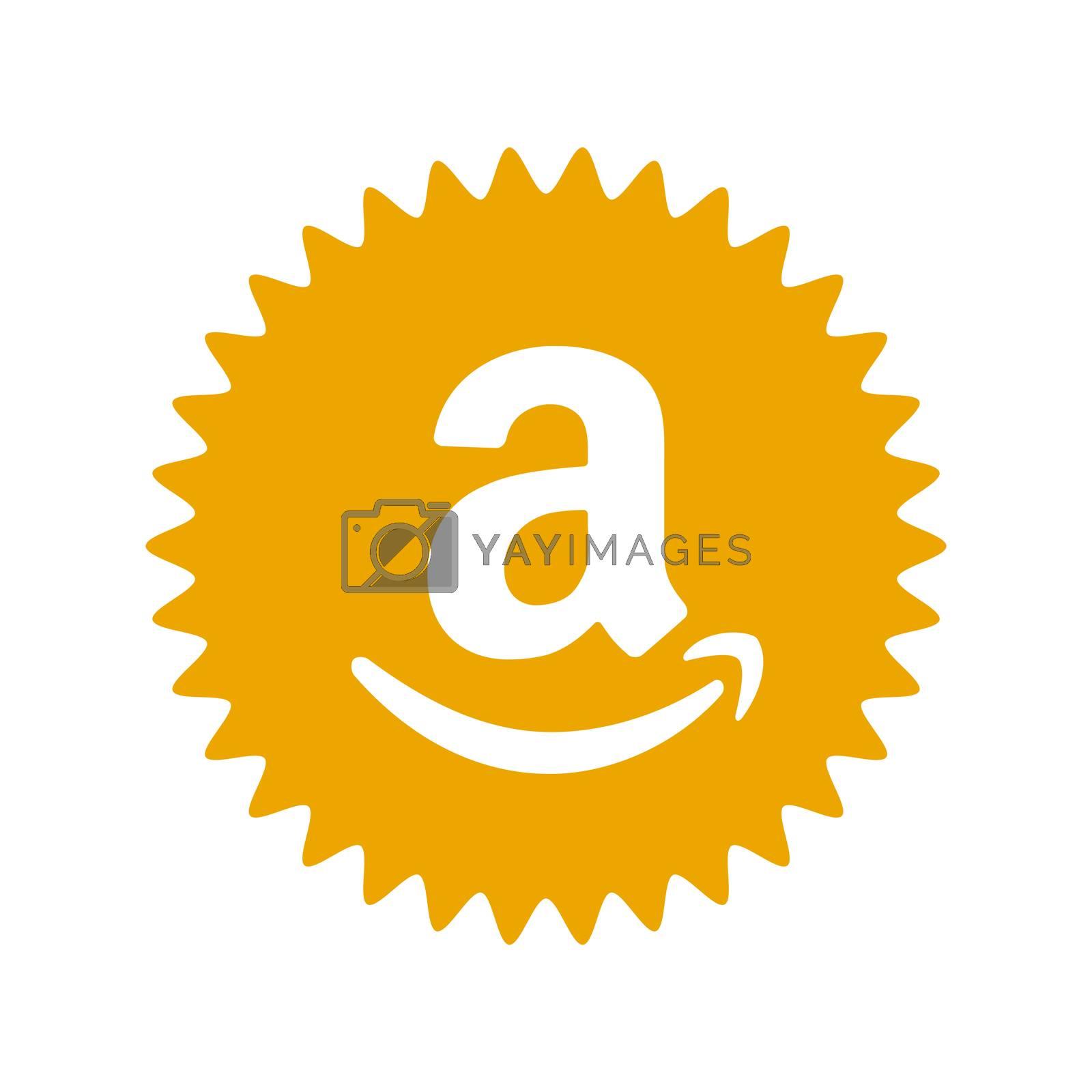 Amazon logo. Amazon icon app application logo. Amazon is American international electronic commerce company . Kharkiv, Ukraine - June, 2020
