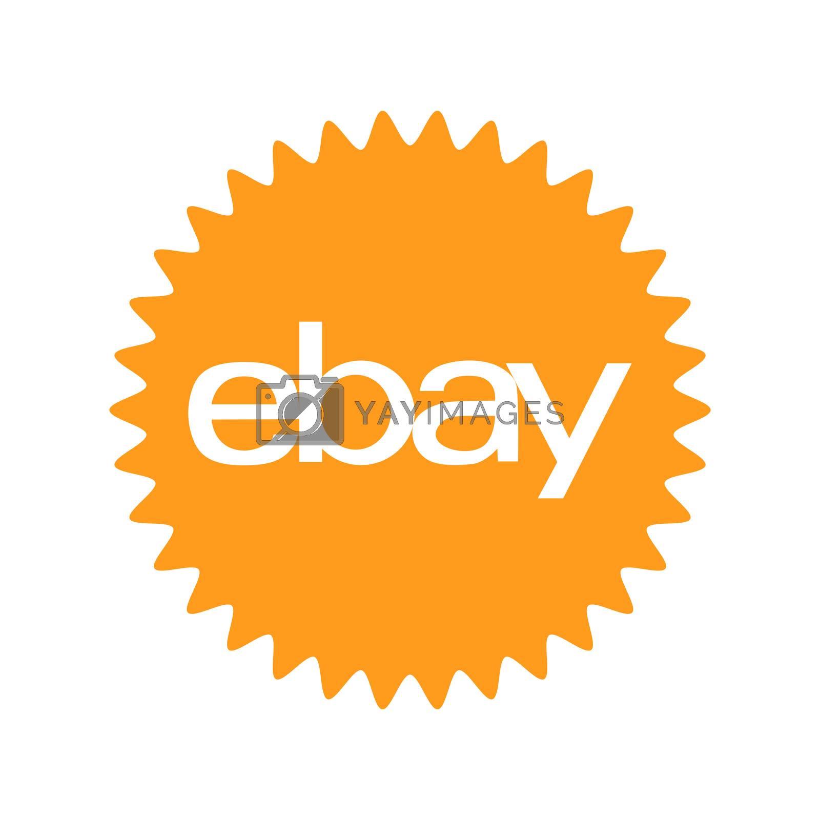 Ebay logo. Ebay is an American corporation and e-commerce company. Providing sales services. Ebay leader in e-commerce . Kharkiv, Ukraine - June, 2020