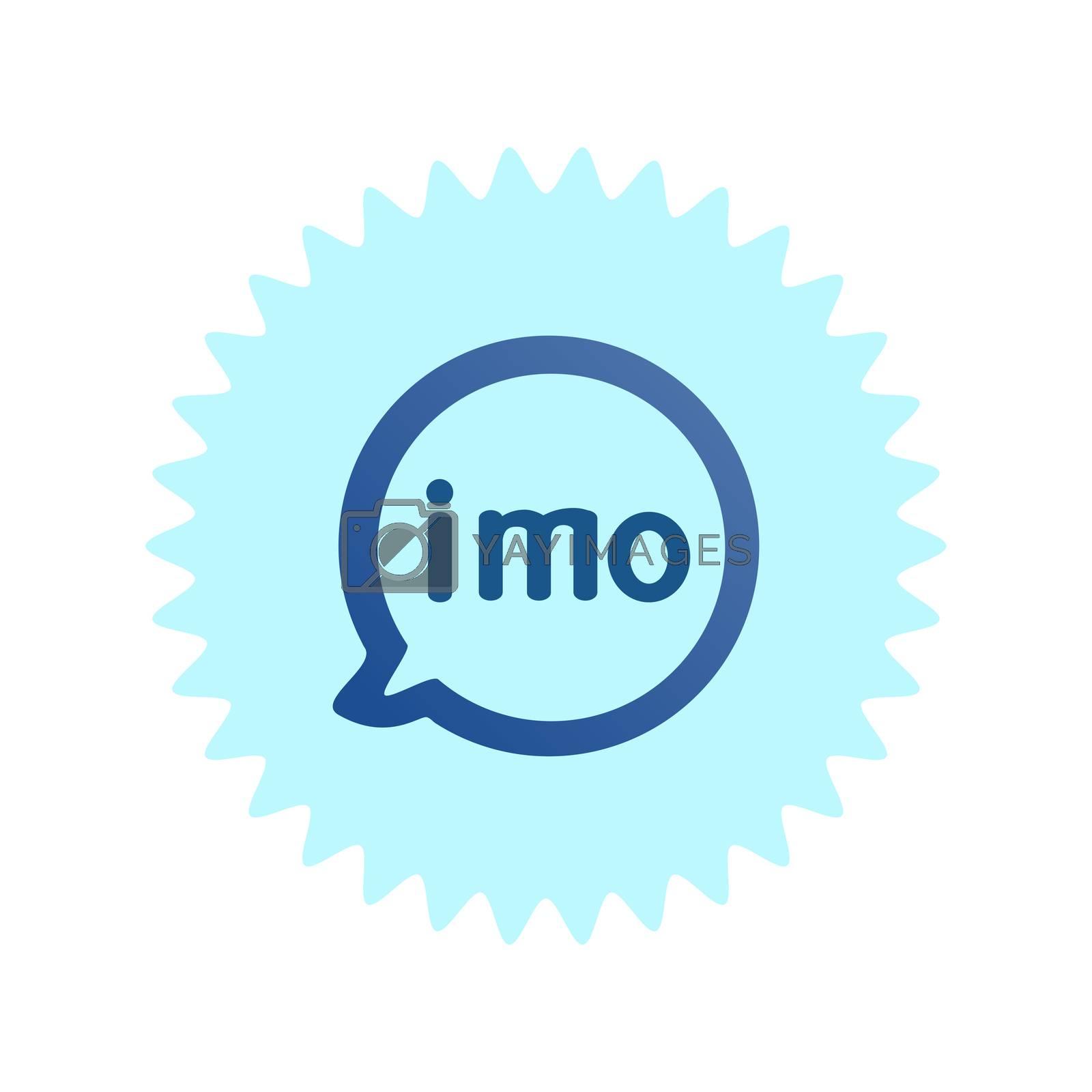 Imo logo. Imo free video calls and chat app logo. Imo video calls and chat app . Kharkiv, Ukraine - June, 2020