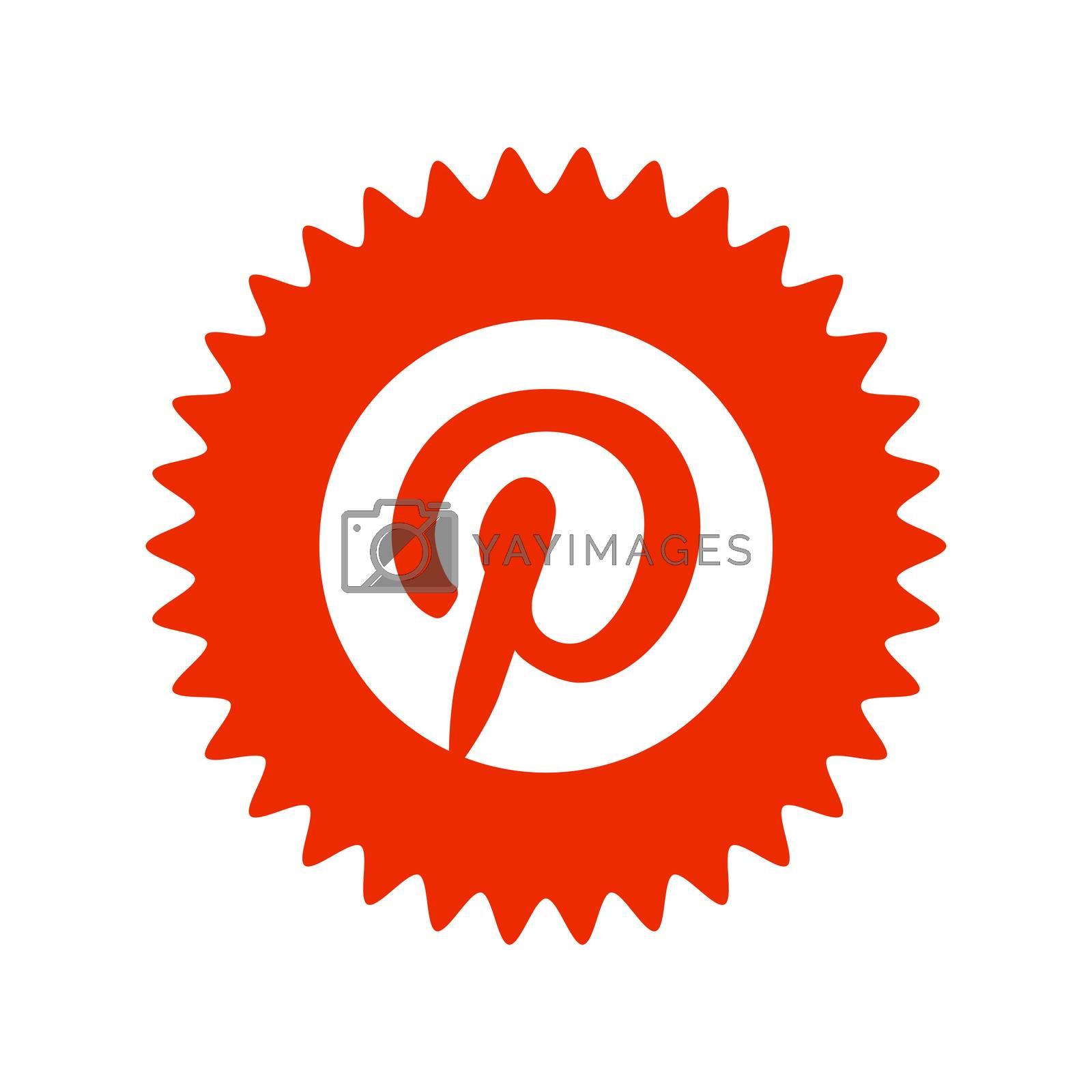 Pinterest logo. Pinterest is a web and mobile application that operates a photo sharing website. Pinterest app . Kharkiv, Ukraine - June, 2020
