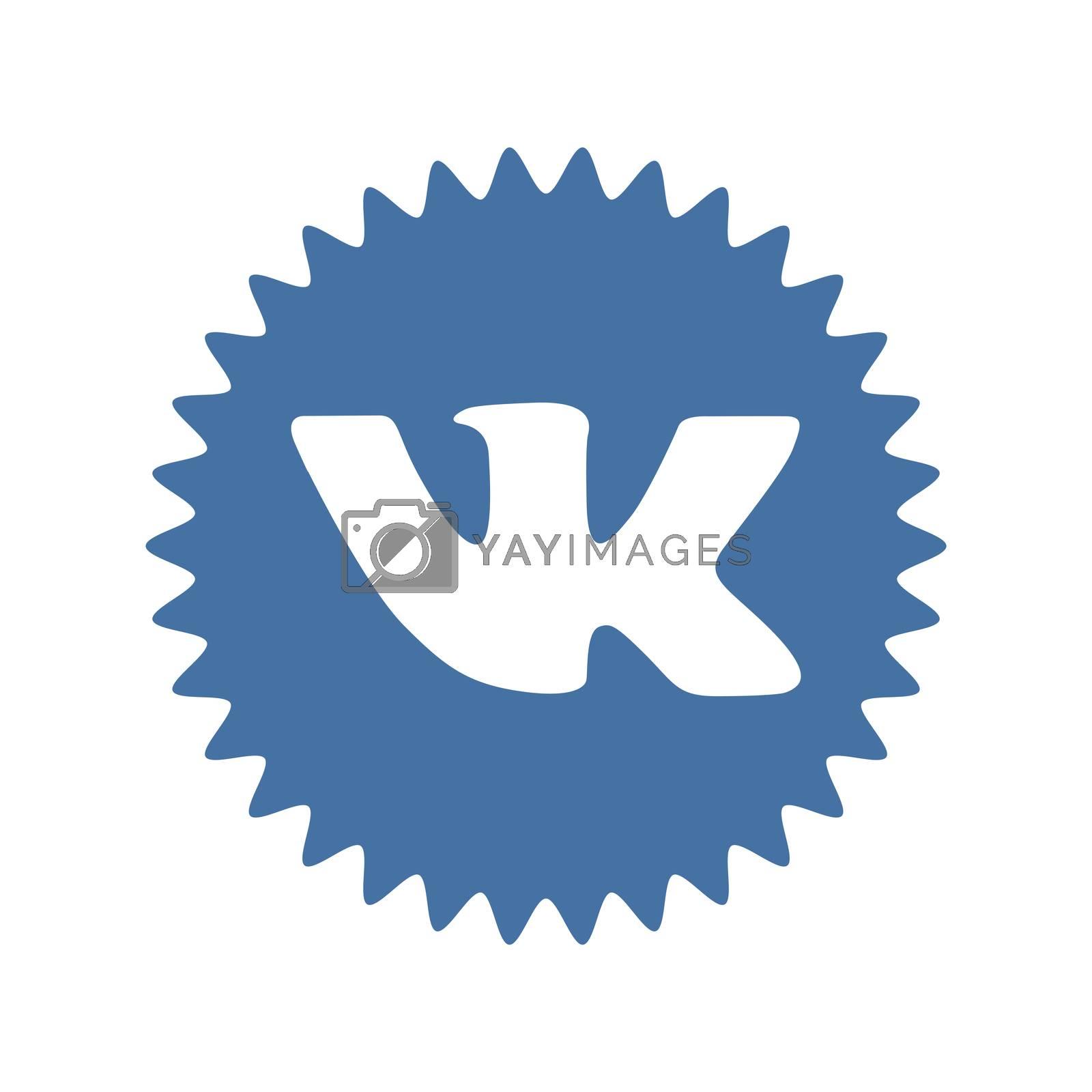 VK logo. Vkontakte is a Russian social media and networking website. VK Vkontakte app . Kharkiv, Ukraine - June, 2020
