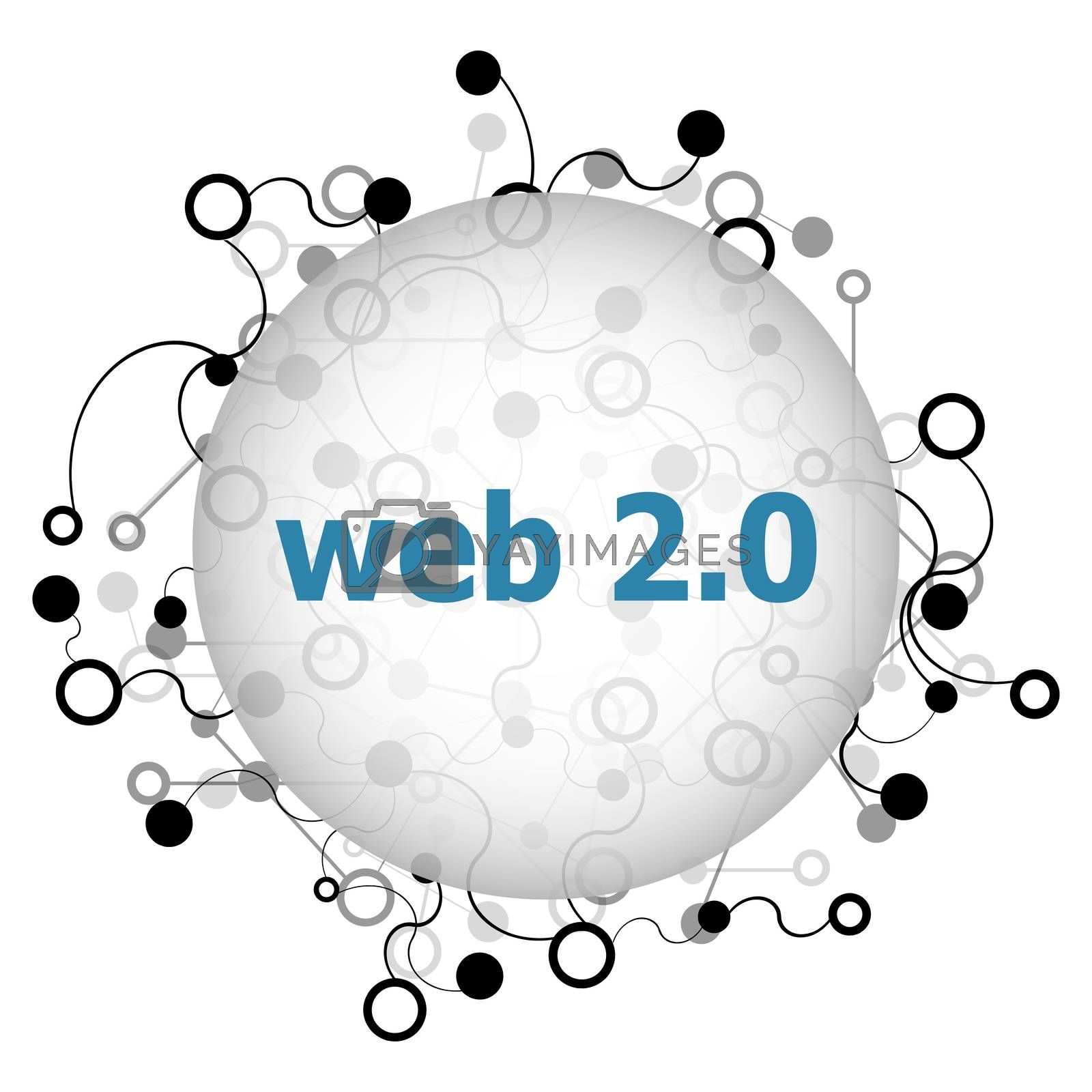 Text web. Web design concept . Abstract background with connecting dots and lines