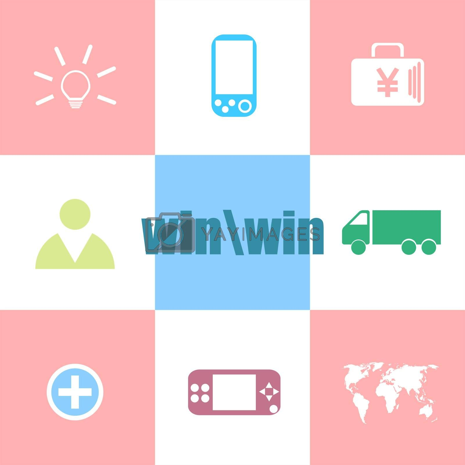 win word. Education concept . Can be used for workflow layout, diagram, business step options, banner