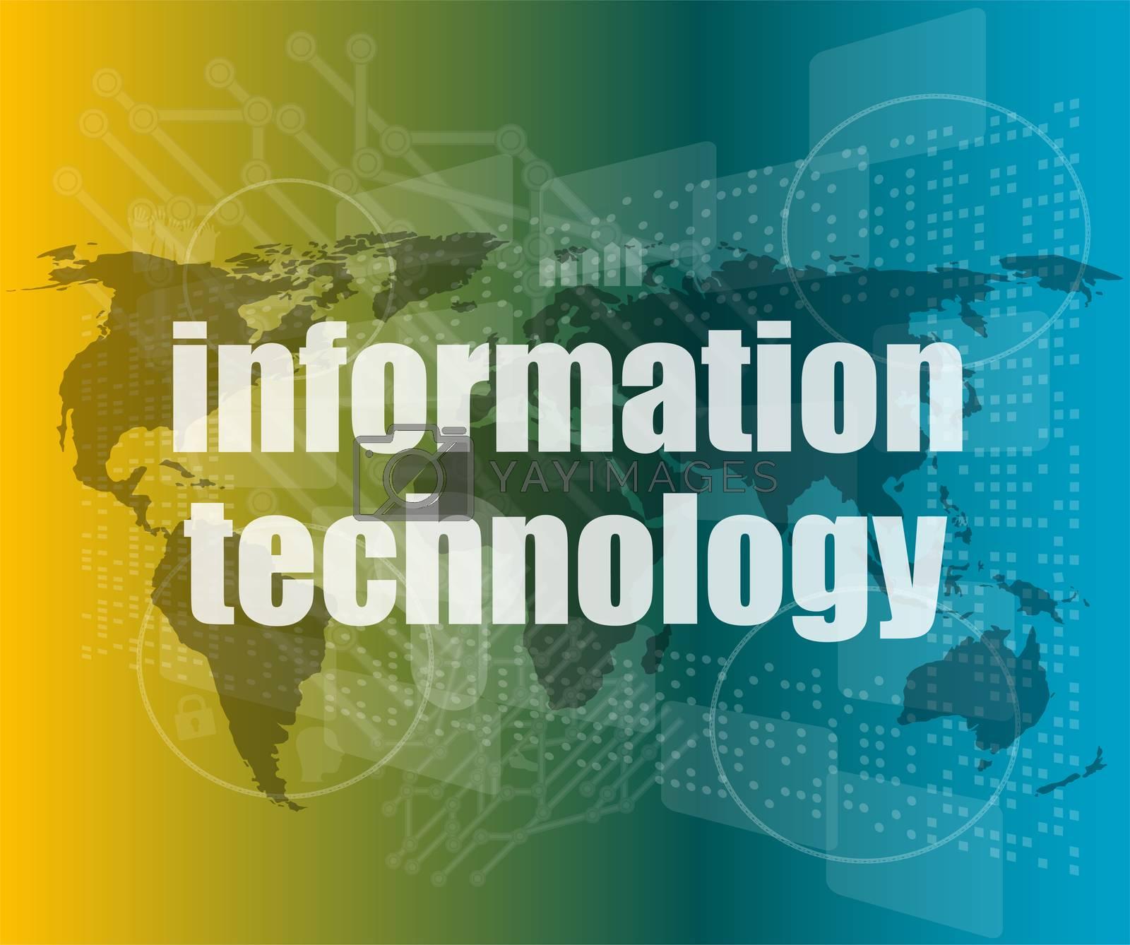 digital information technology concept background
