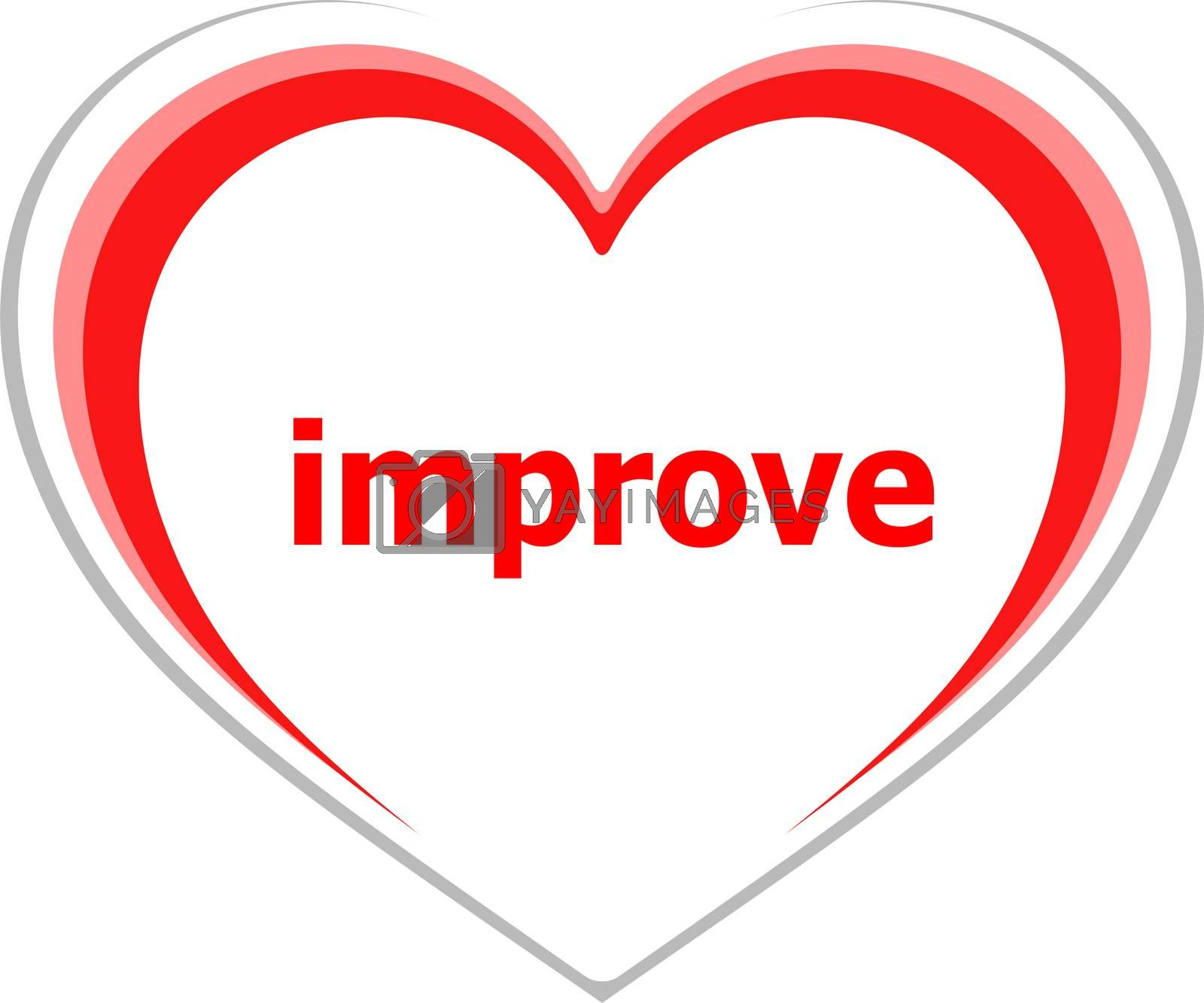 Text improve. Business concept