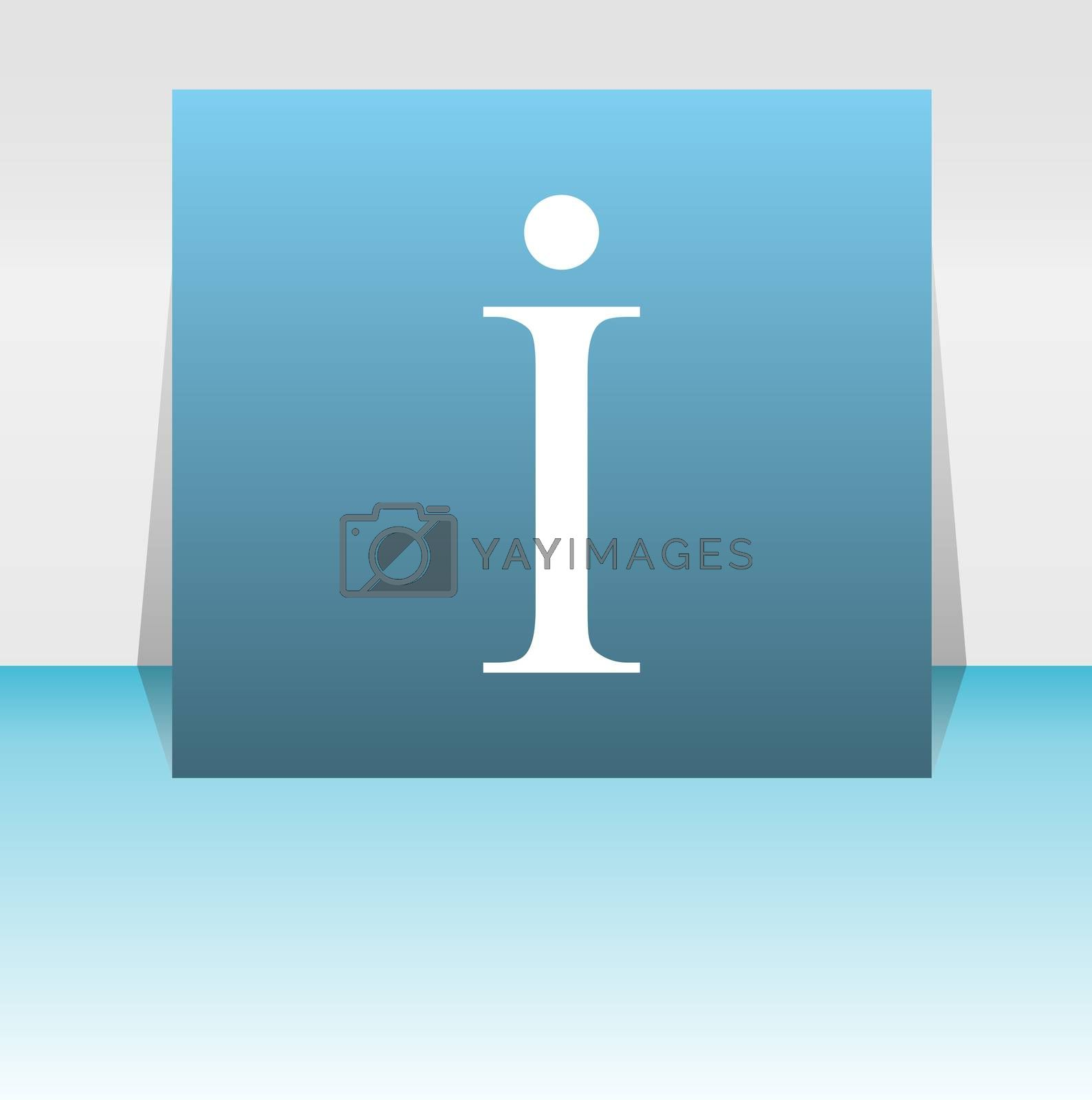 Info web button information symbol sign, info symbol . Letter I web button sybmol design