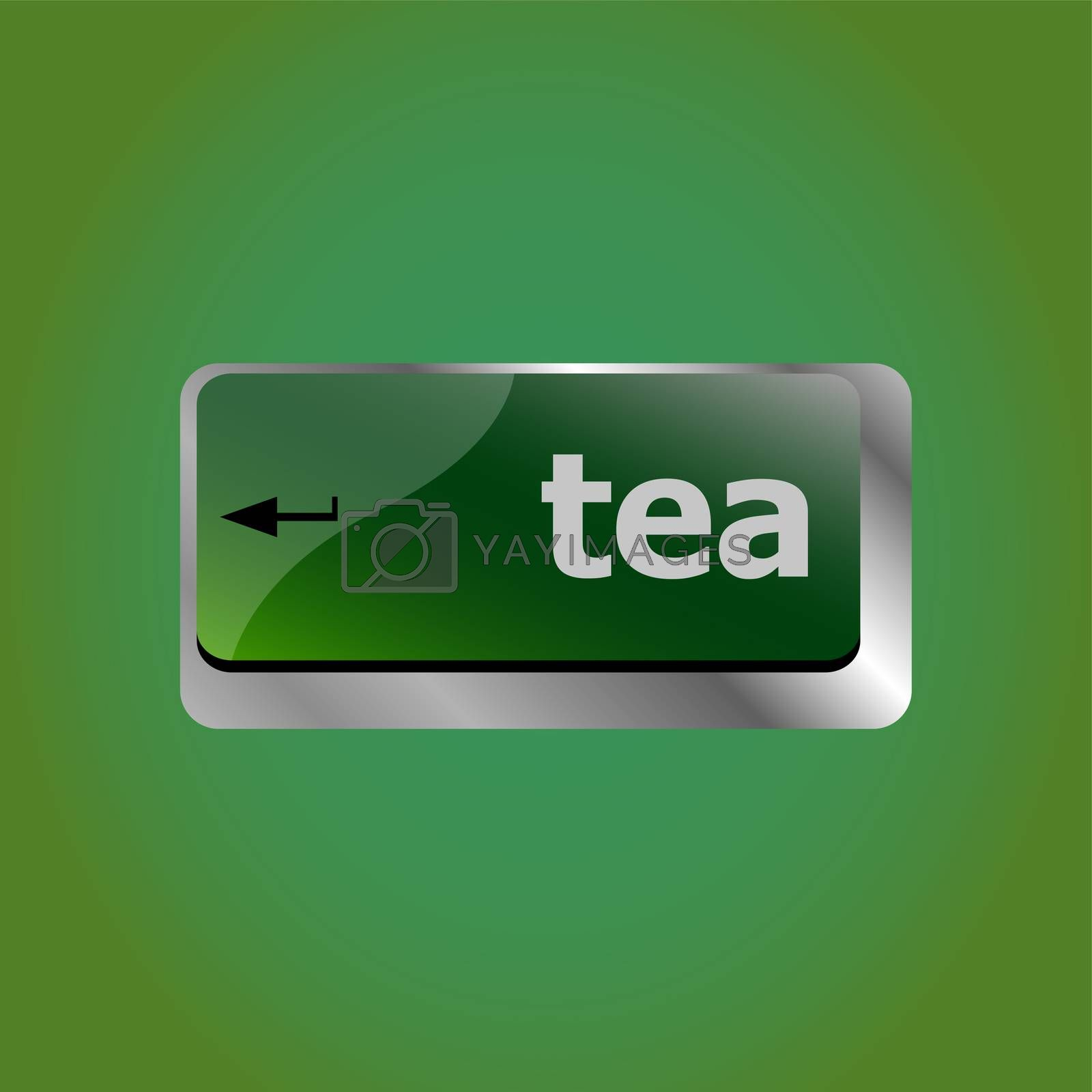 computer keyboard keys with tea break button