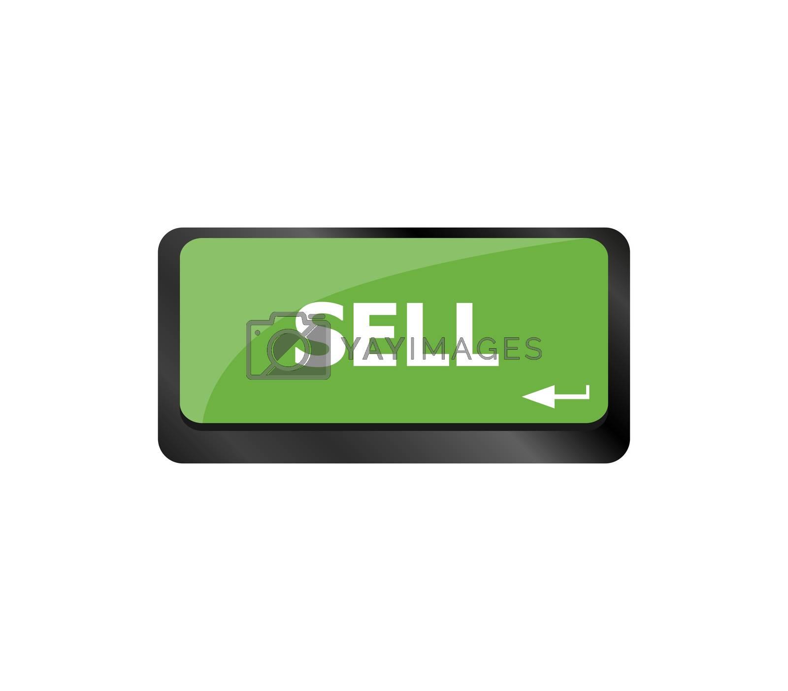 sell written on keyboard keys showing business or finance concept