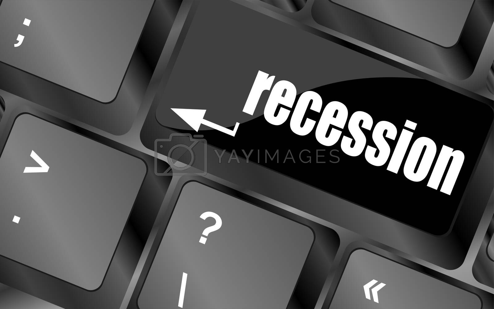 recession button on computer keyboard key