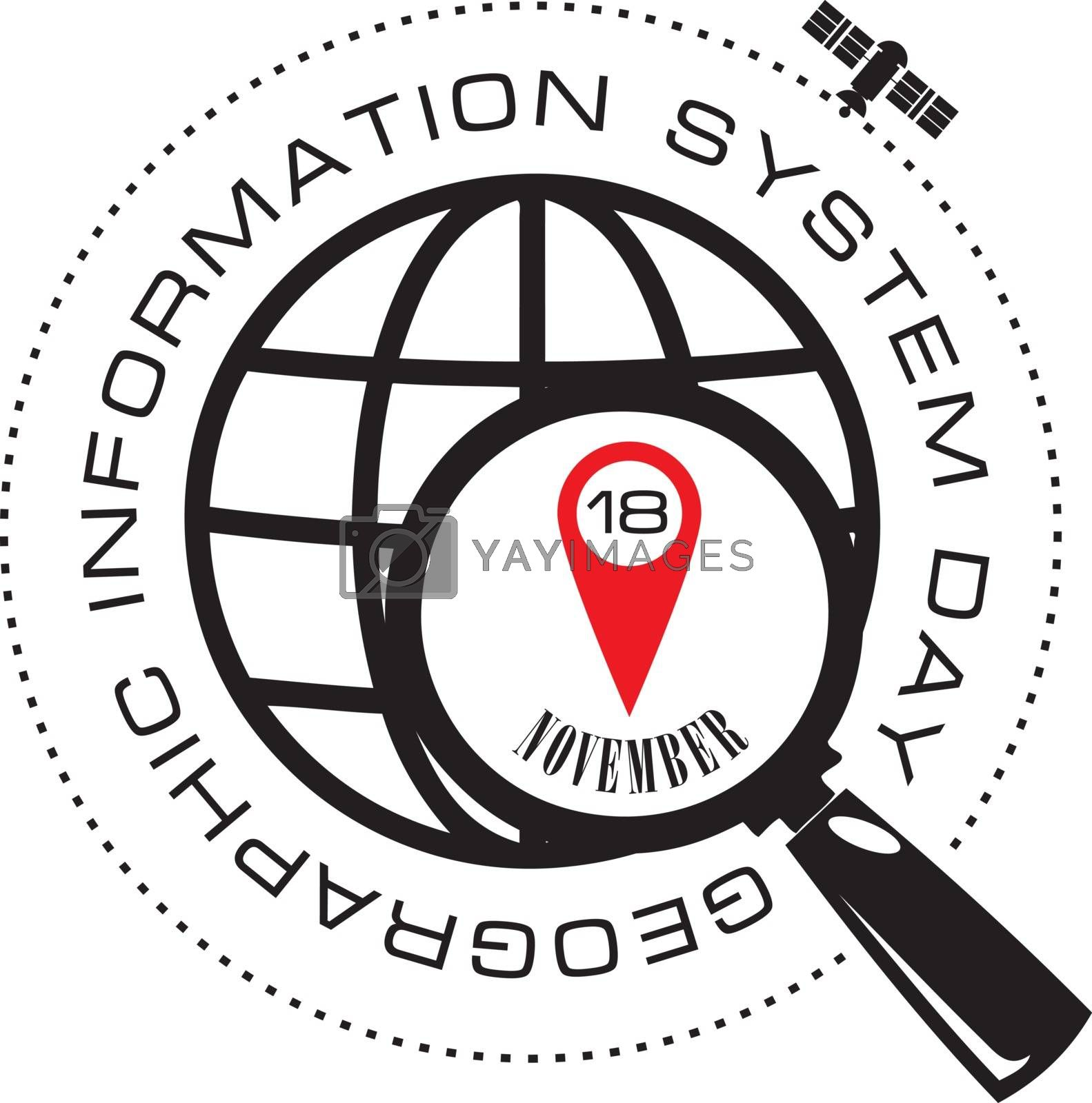 Symbol for the celebration of Geographic Information System