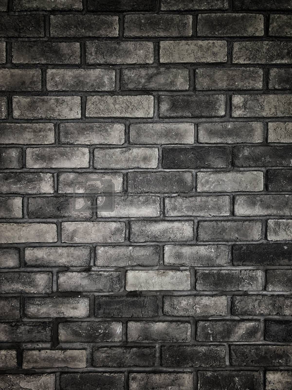 Black Brick wall background and texture