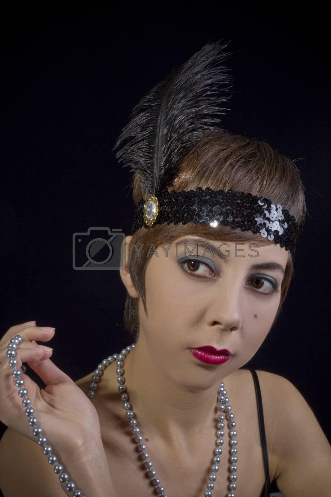 Royalty free image of Beautiful retro style girl by VIPDesignUSA