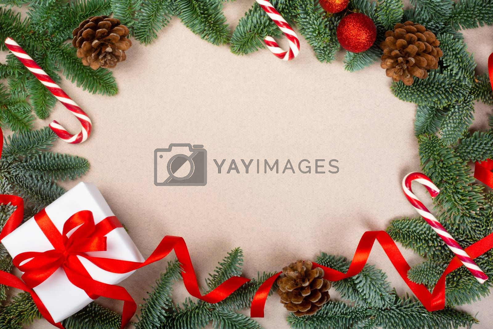 Royalty free image of Christmas frame background by destillat