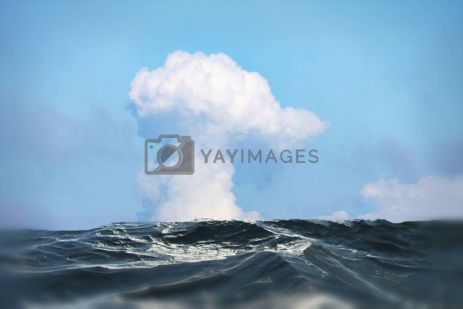 Royalty free image of Big cloud over the sea by Fr@nk