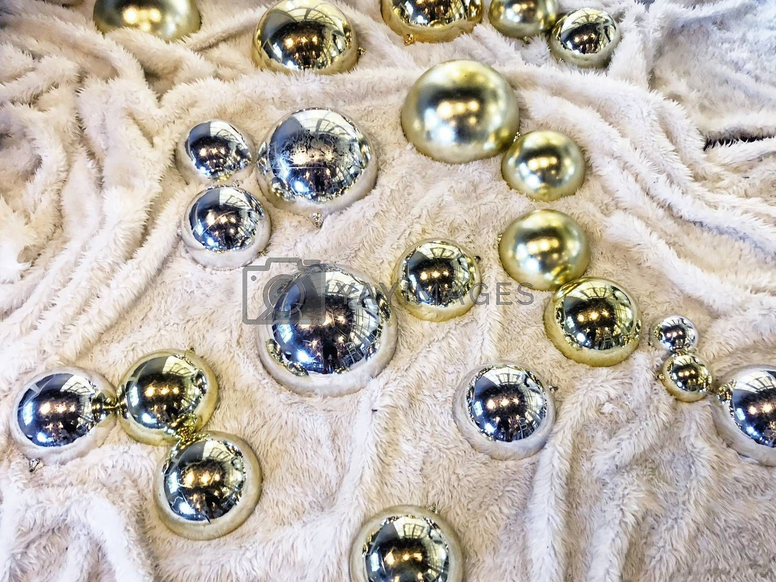 Glass marble balls decoration