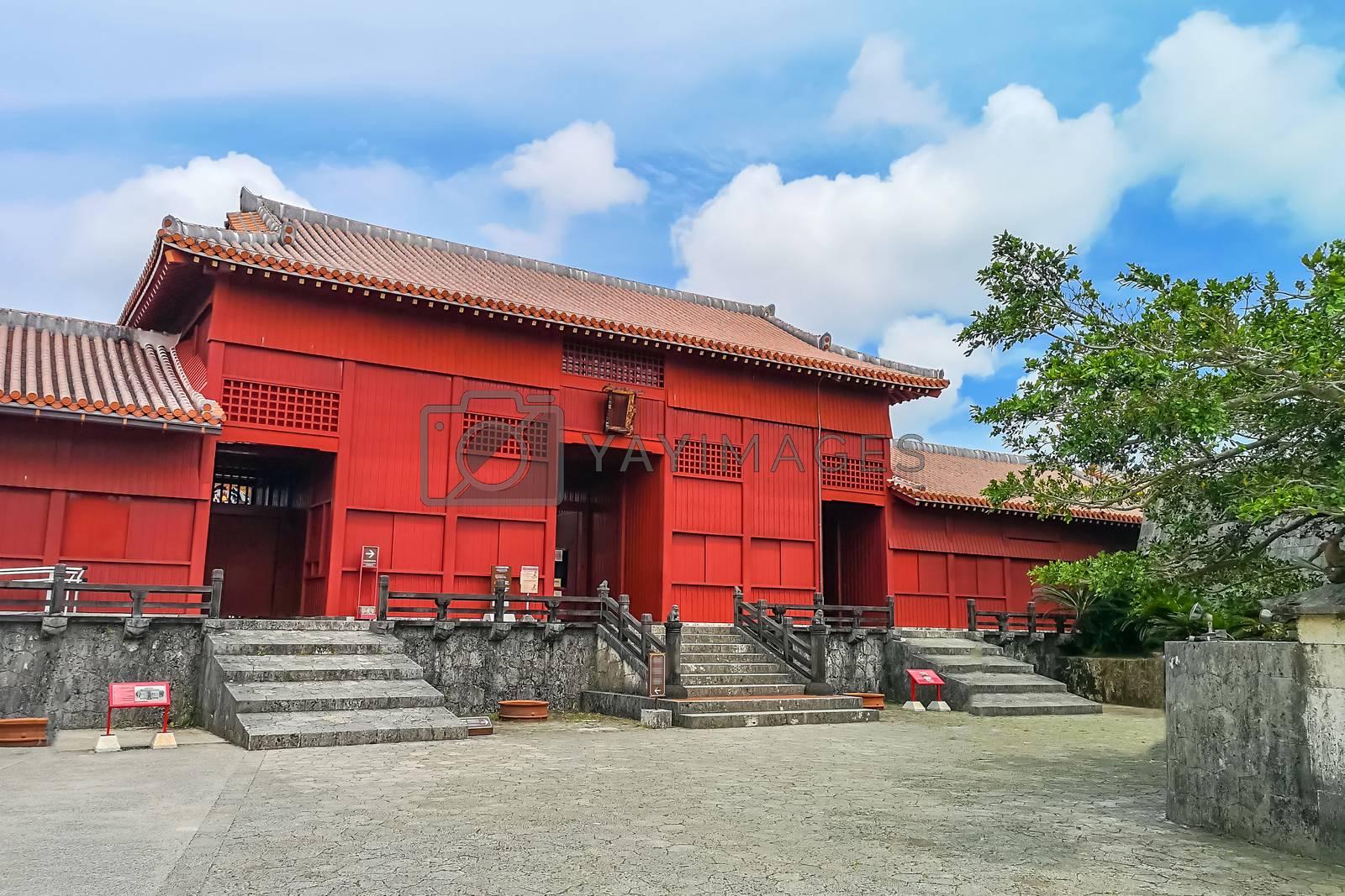 Main entrance gate of Shuri (Shurijo) Castle in Okinawa