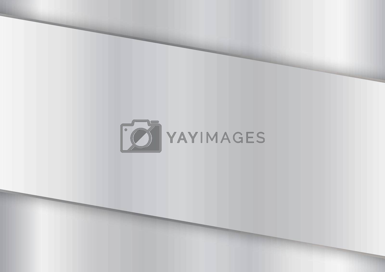 Modern white and gray glossy silver gradient color background with stripes. Vector illustration