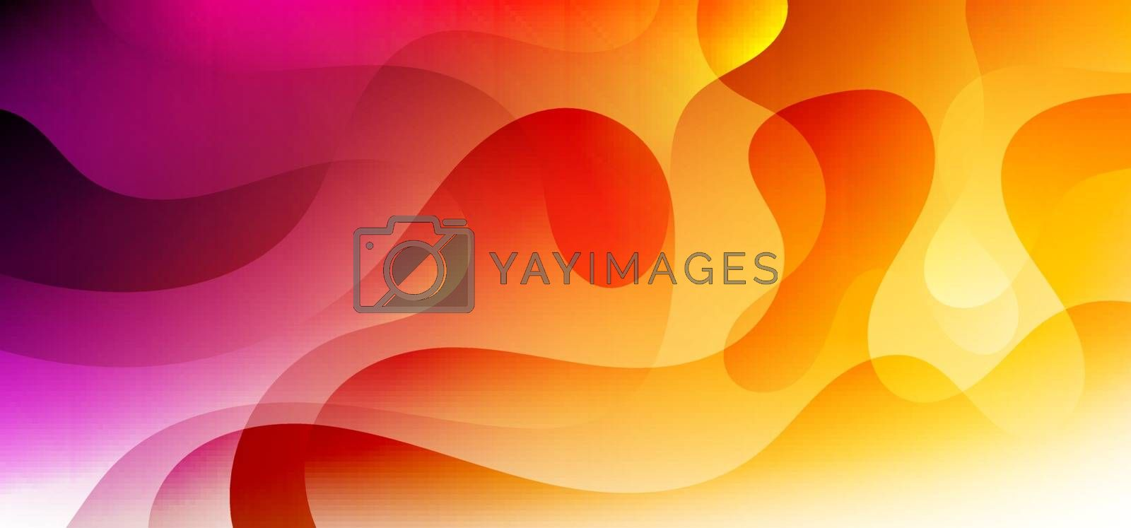 Abstract background trendy fluid vibrant color gradient shape dynamic with lighting effect. Vector illustration