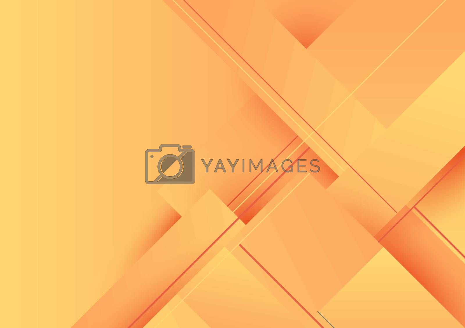 Abstract background yellow gradient geometric stripes diagonal with shadow. Vector illustration