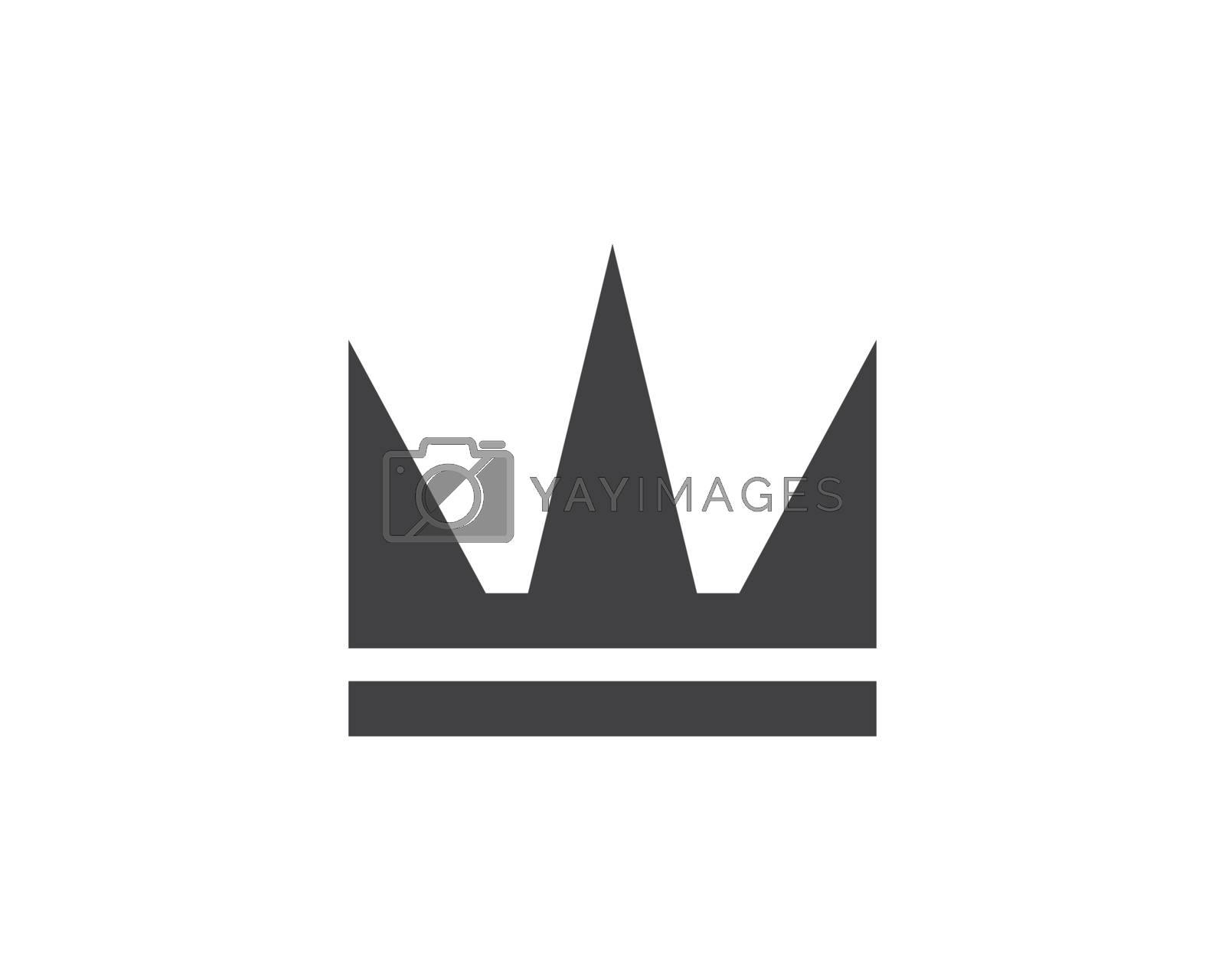 royal crown logo icon vector illustration design