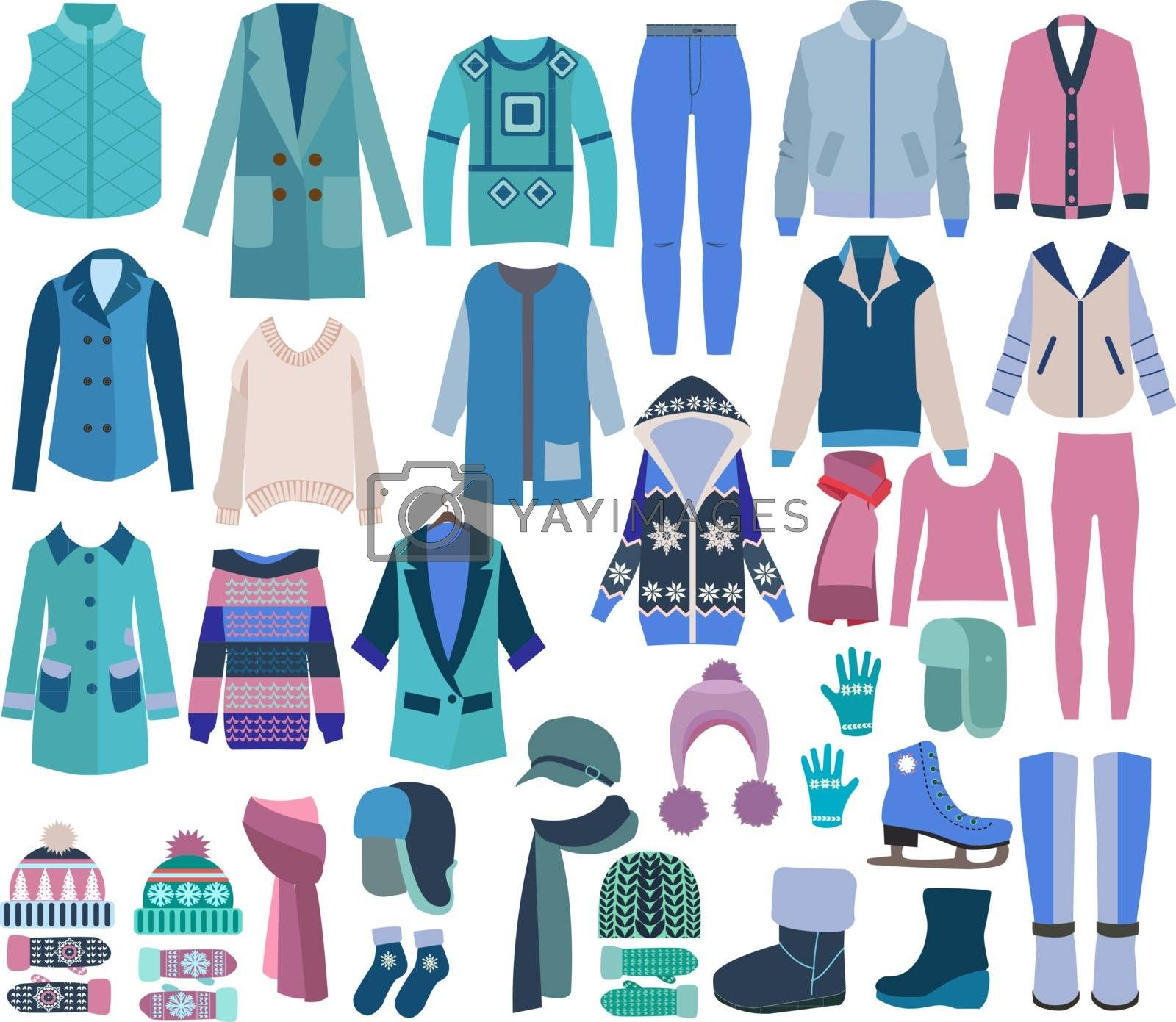 Winter Clothes and Collection of Shoes, knitted Accessories. by Margolana