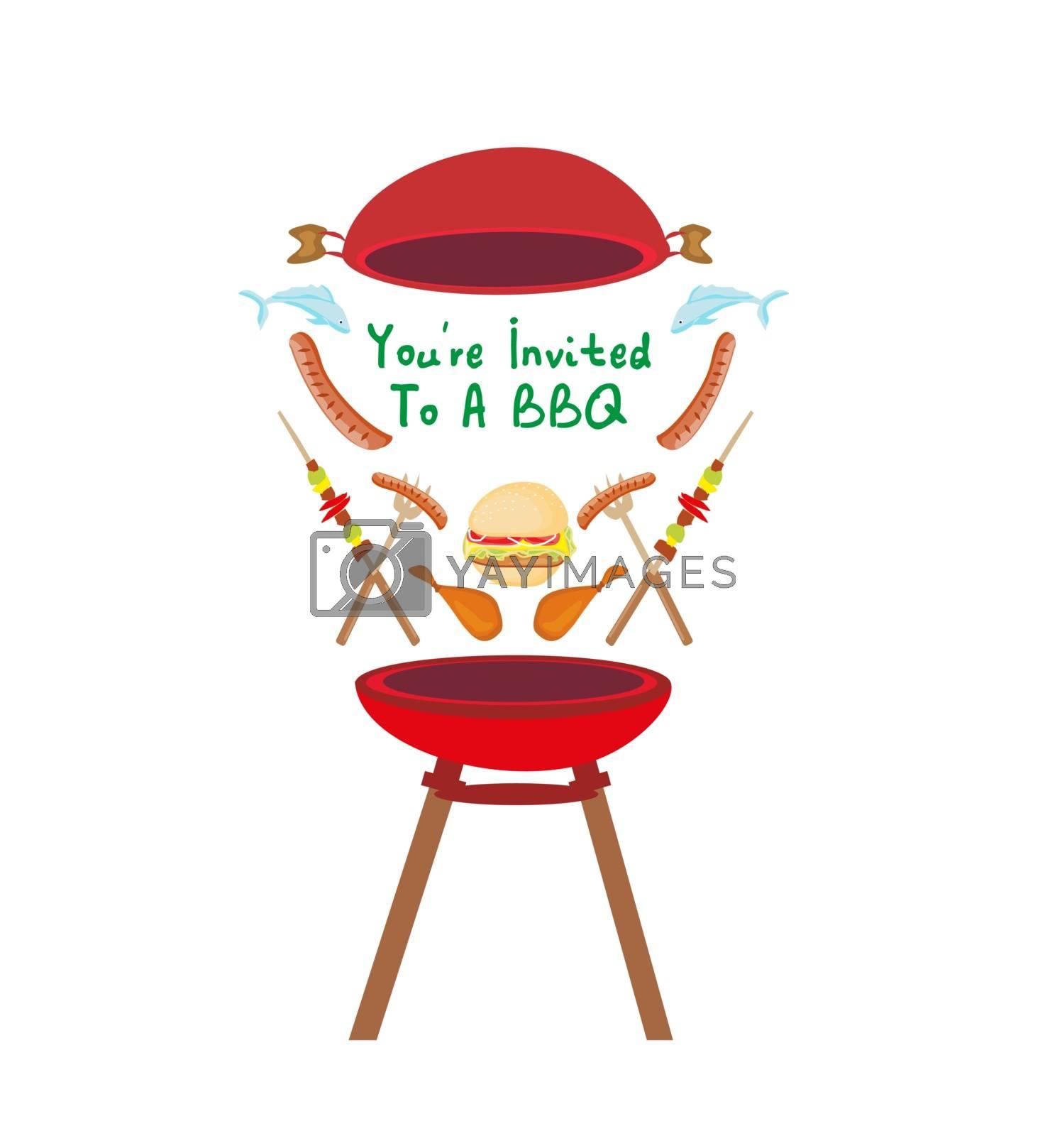 Barbecue Party Invitation banner