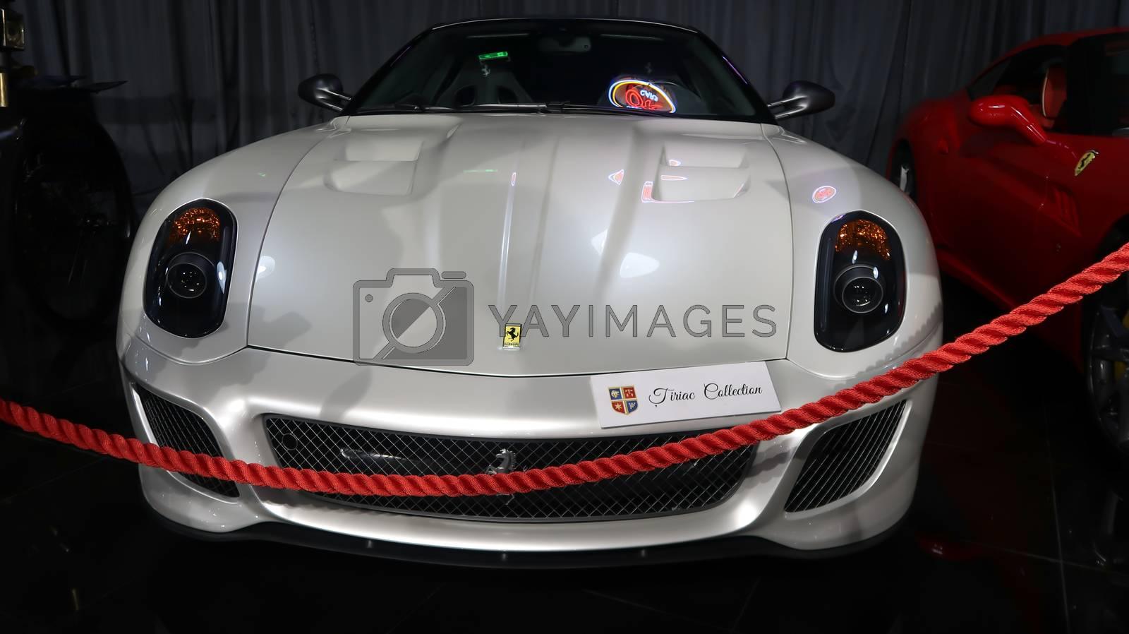 Bucharest / Romania - 07-19-2020: Tiriac Collection Showroom. Exhibition of super cars Ferrari