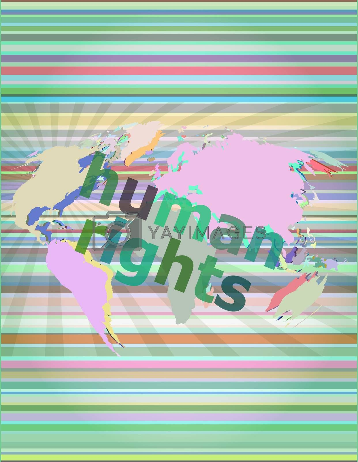 human rights. Law concept: words human rights on business digital background