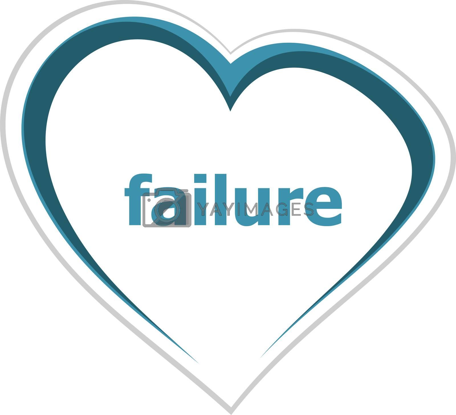 Text Failure. Finance concept