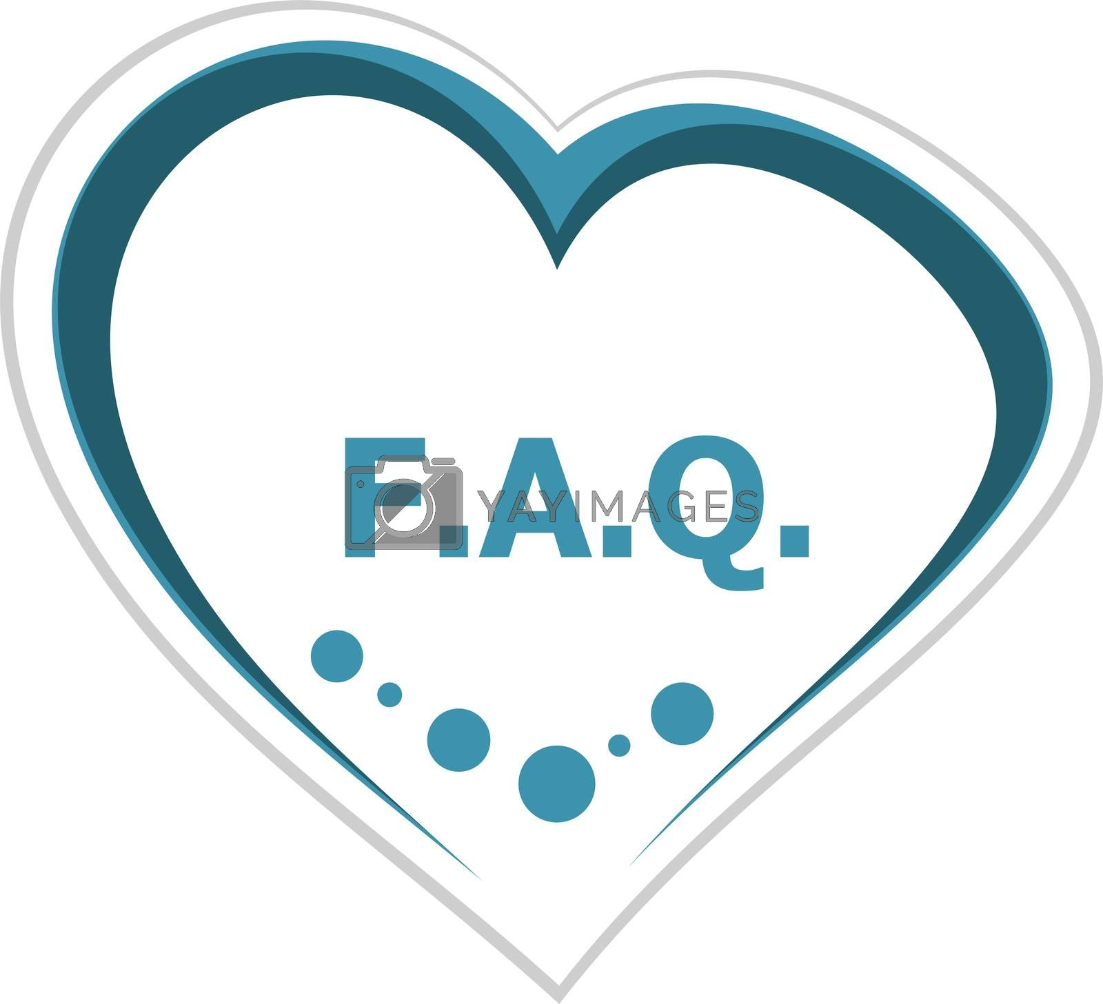 Text Faq. Education concept. frequently asked questions