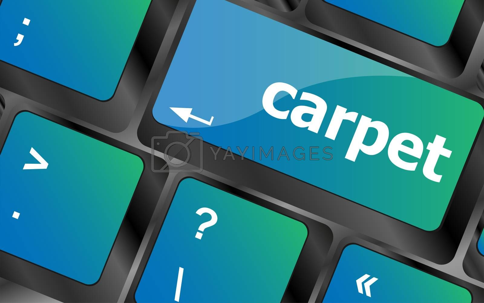 carpet word on computer pc keyboard key