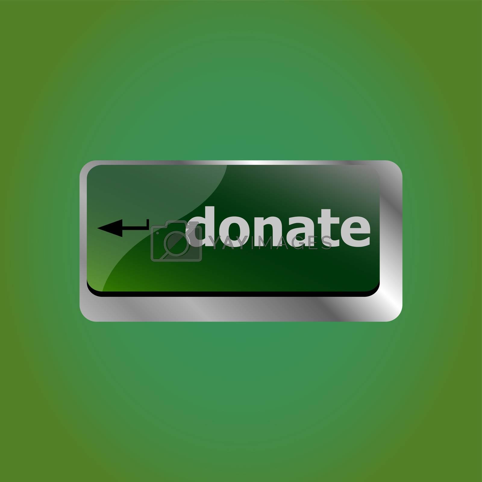donate button on computer keyboard pc key