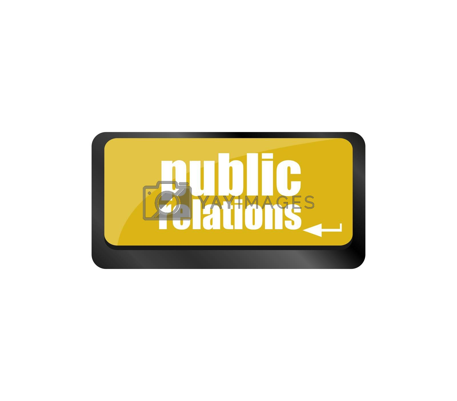 PR Advertising concept computer keyboard with word Public Relations