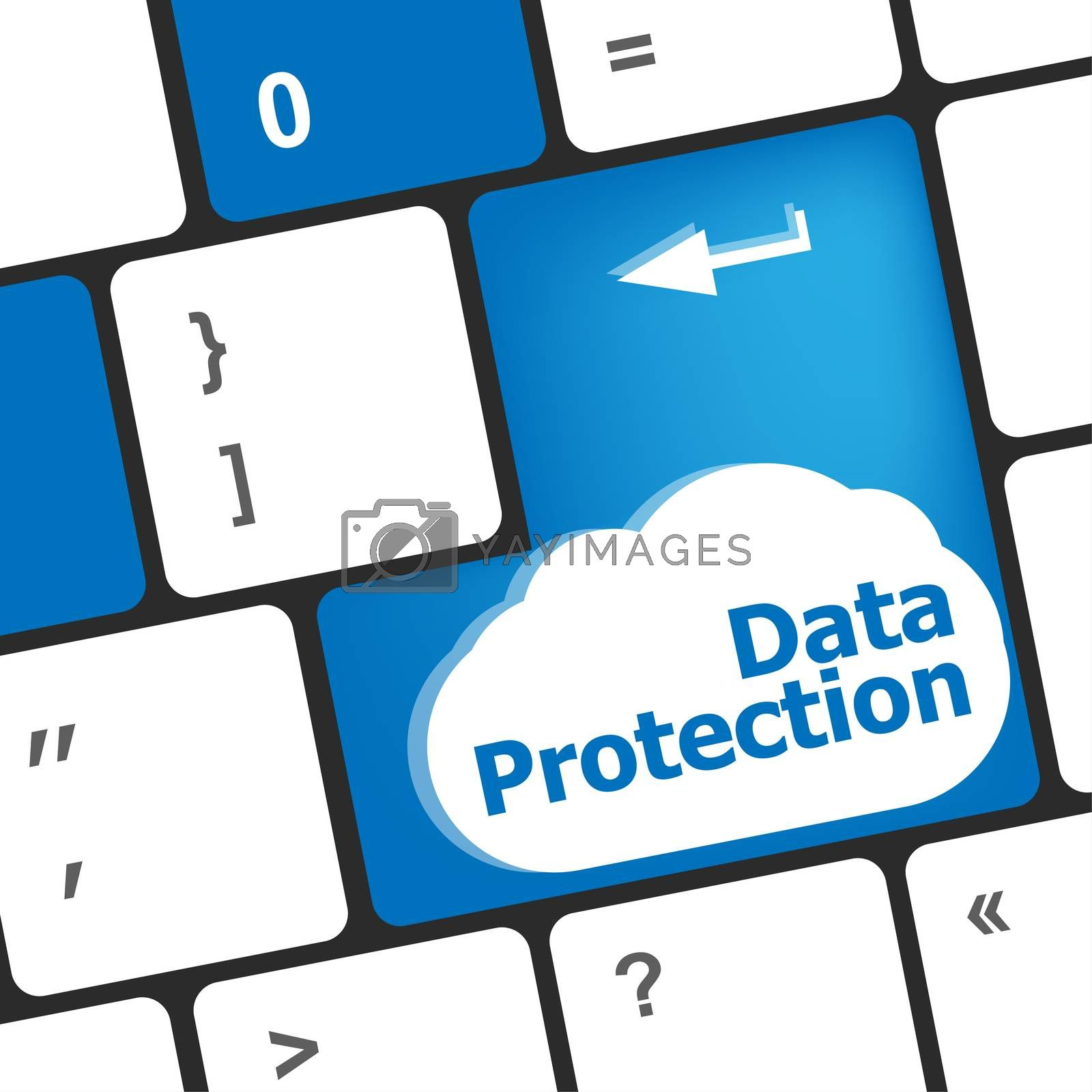 data protection button on the keyboard keys