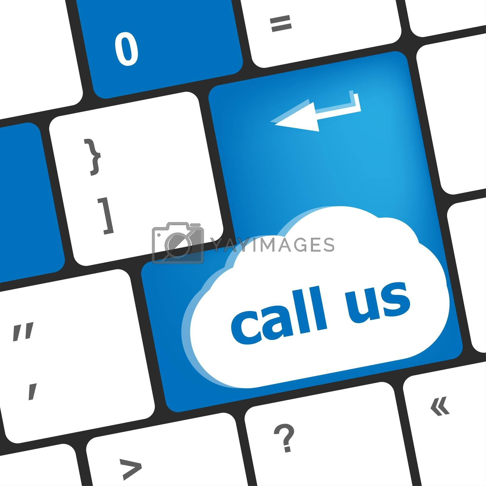 Keyboard keys with contact us, business concept