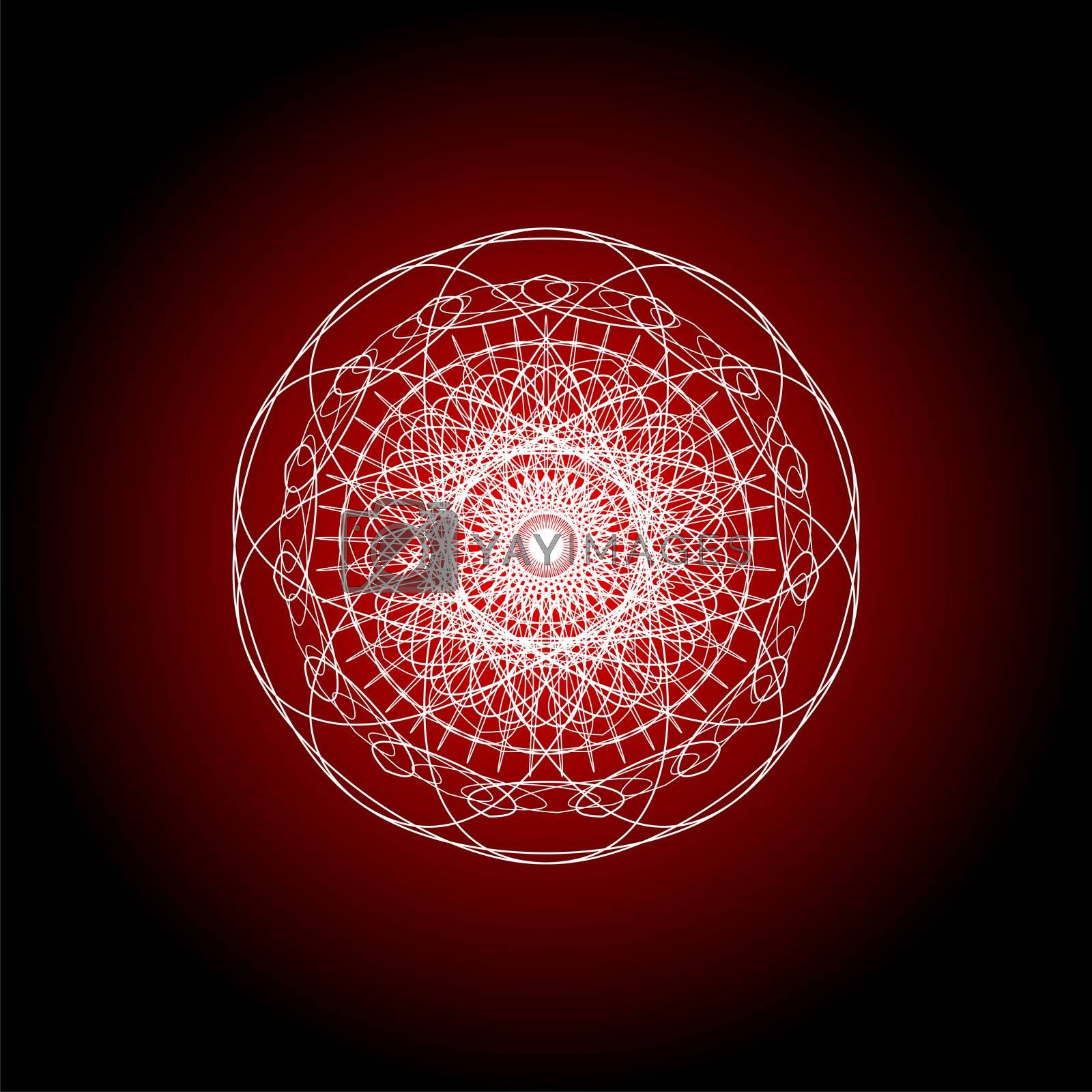 Mandala guiiloche spirographic elements for design templates watermarks of certificates, vouchers, banknotes cards and invitations