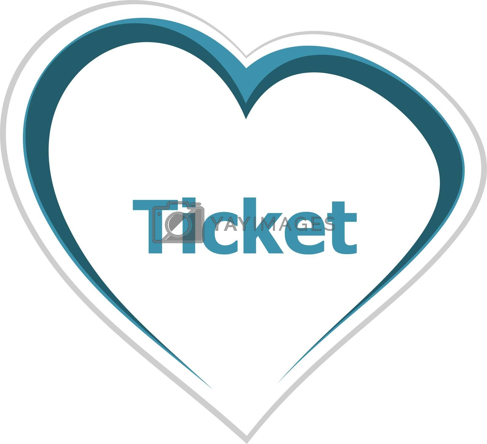 Text Ticket. Business concept