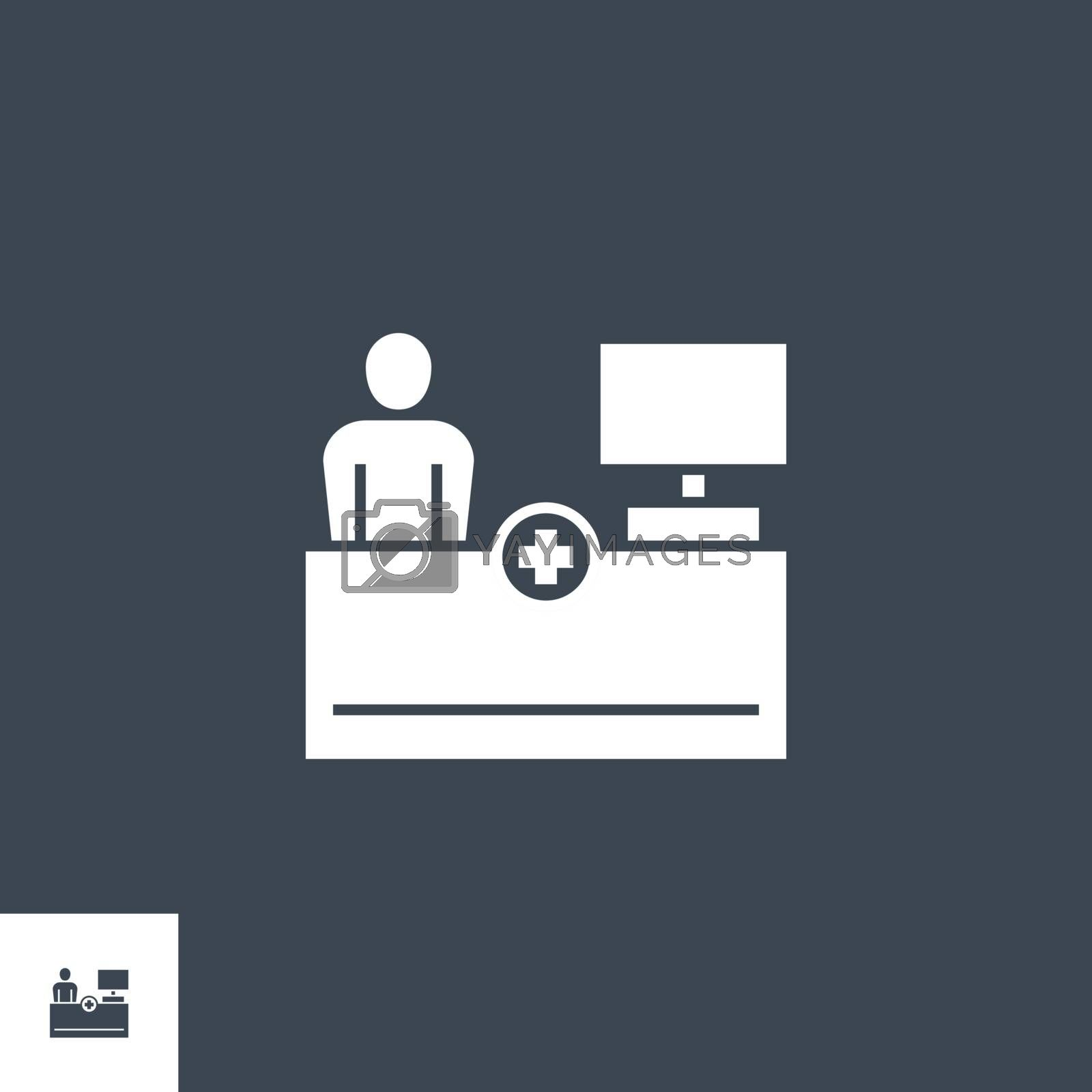 Reception related vector glyph icon. Isolated on black background. Vector illustration.