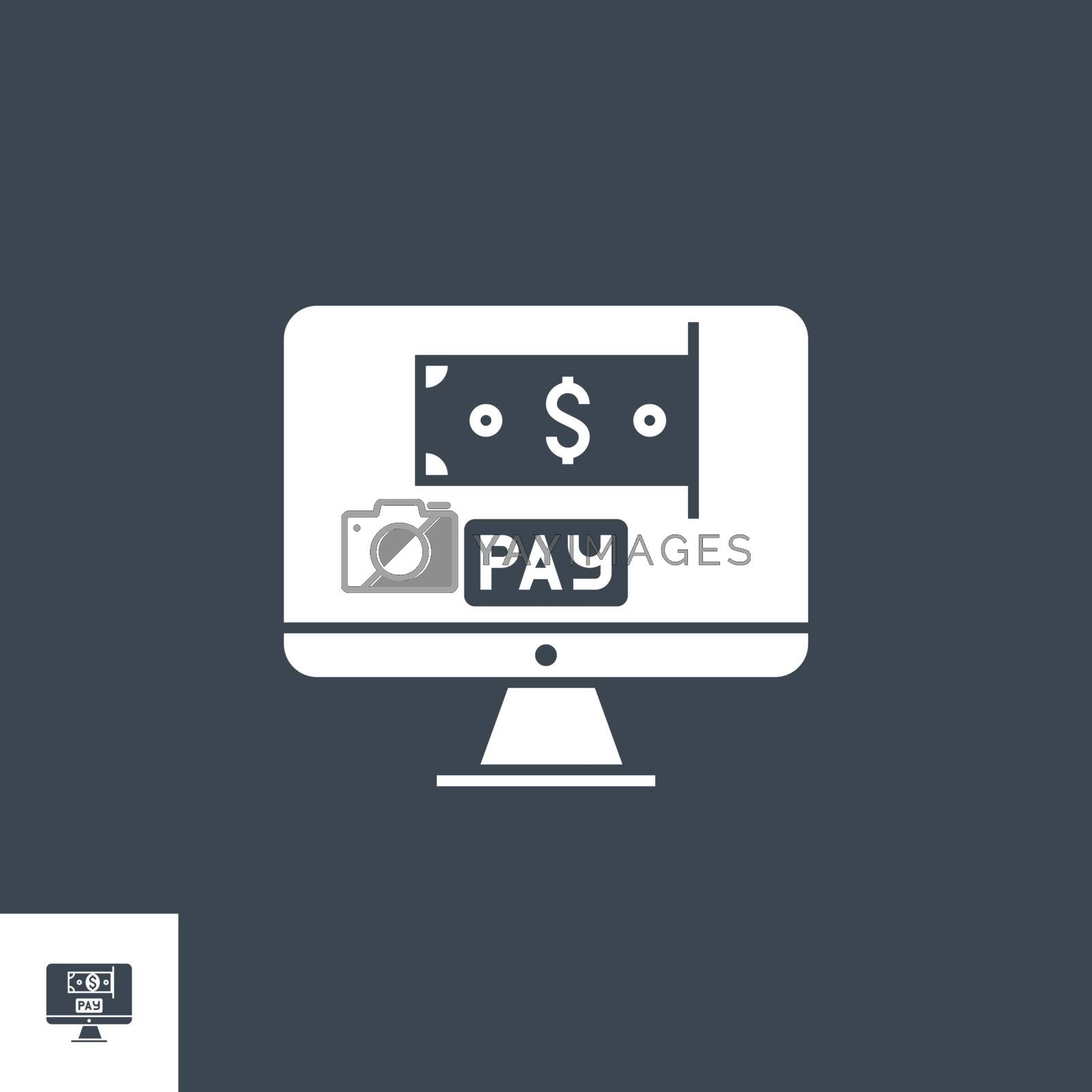 On Pay related vector glyph icon. by smoki