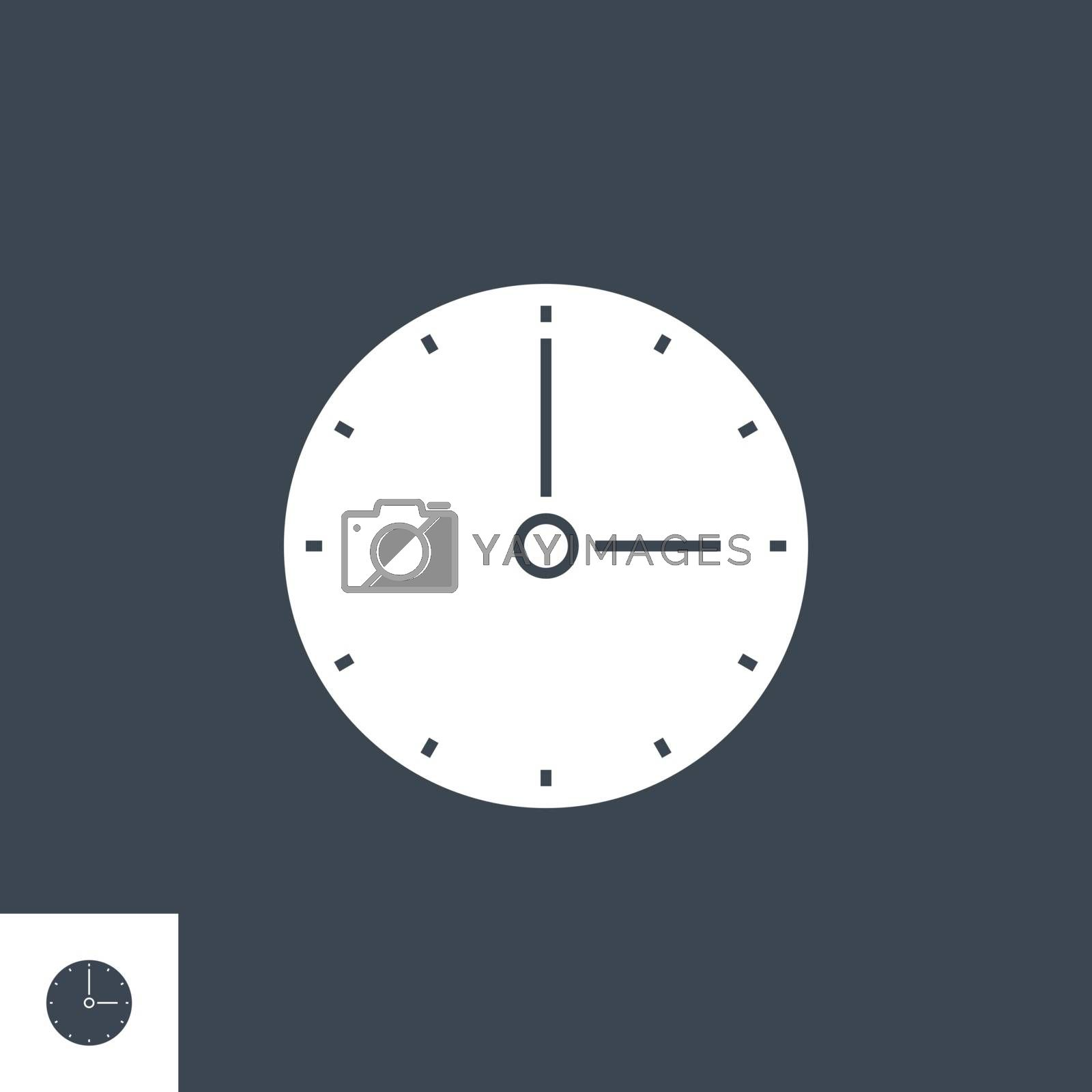 Clock related vector glyph icon. by smoki