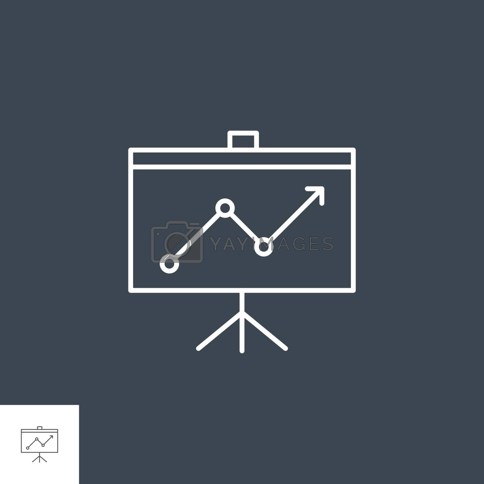 Presentation Related Vector Line Icon by smoki