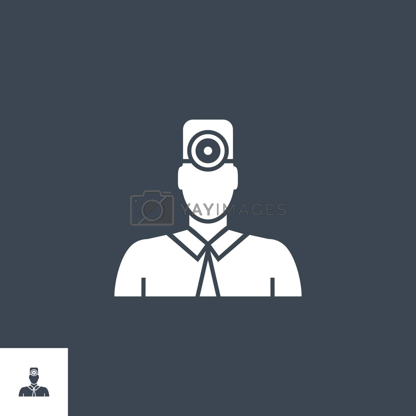 Doctor related vector glyph icon. by smoki