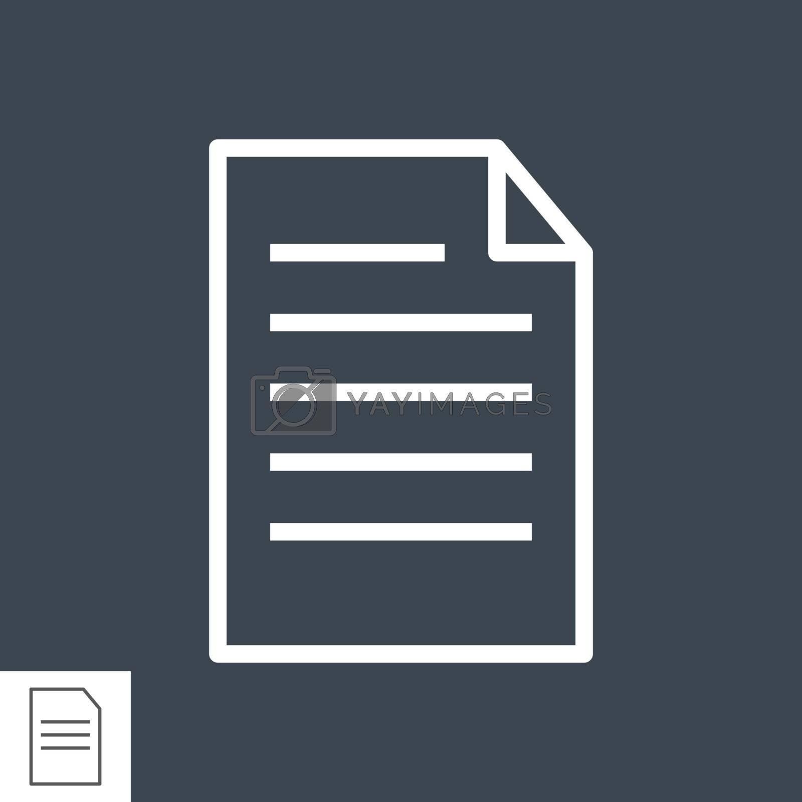 Paper line icon by smoki