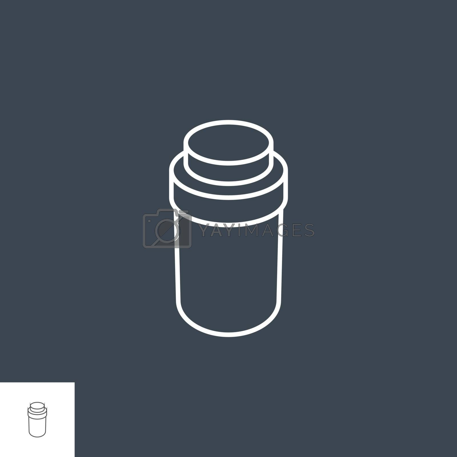 Pills Bottle Vector Icon by smoki