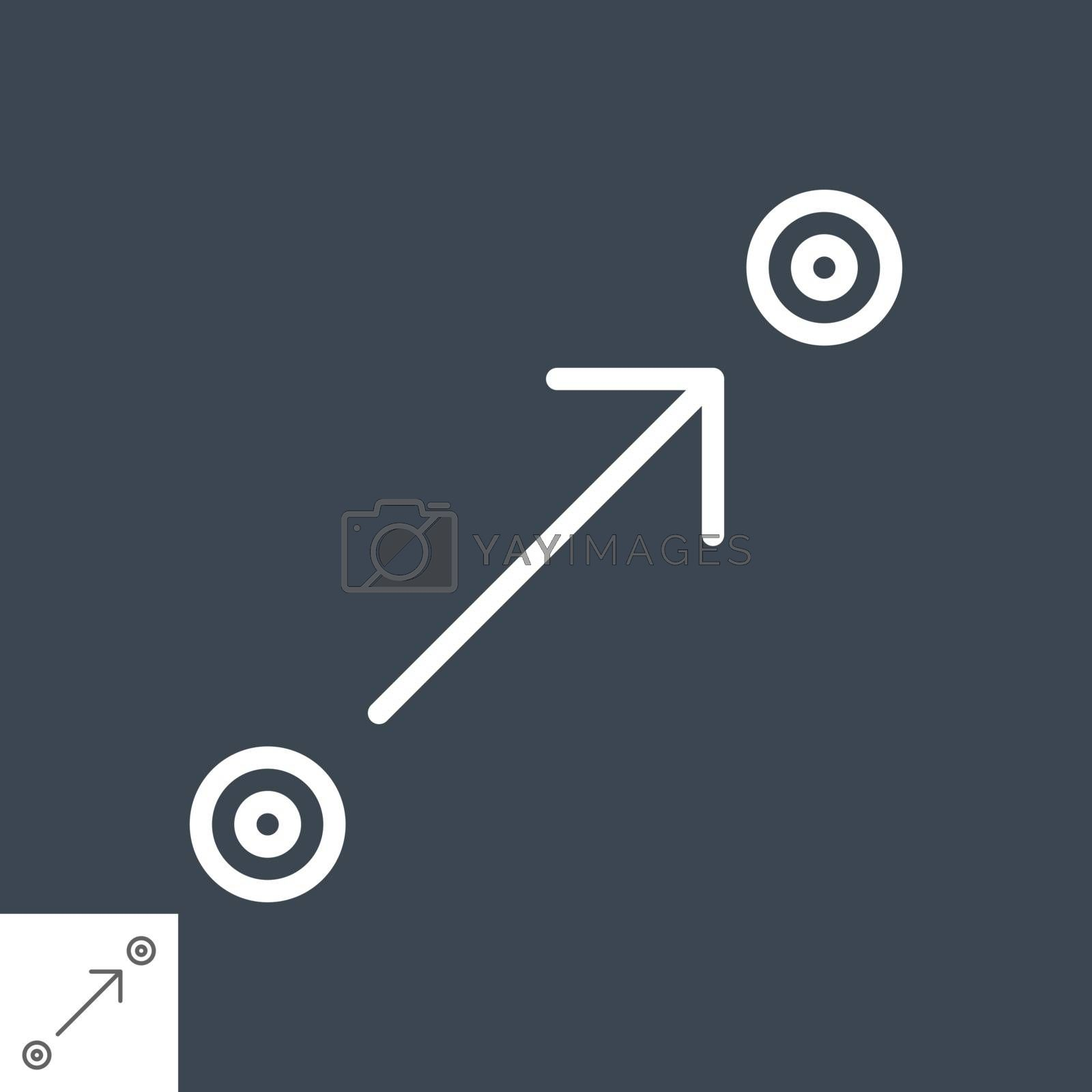 Route planner line icon by smoki