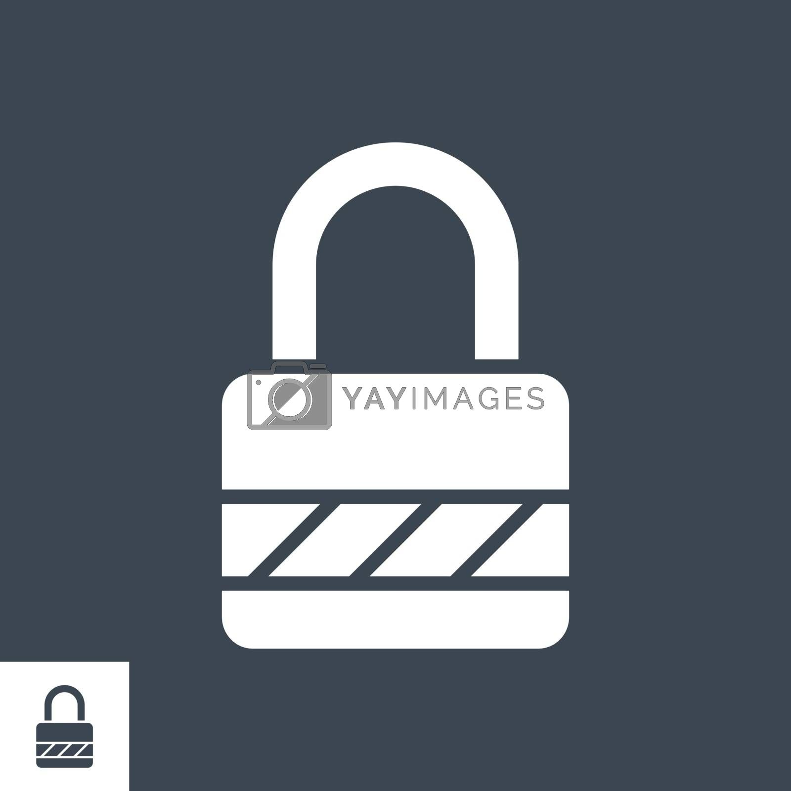 Padlock Vector Glyph Icon by smoki