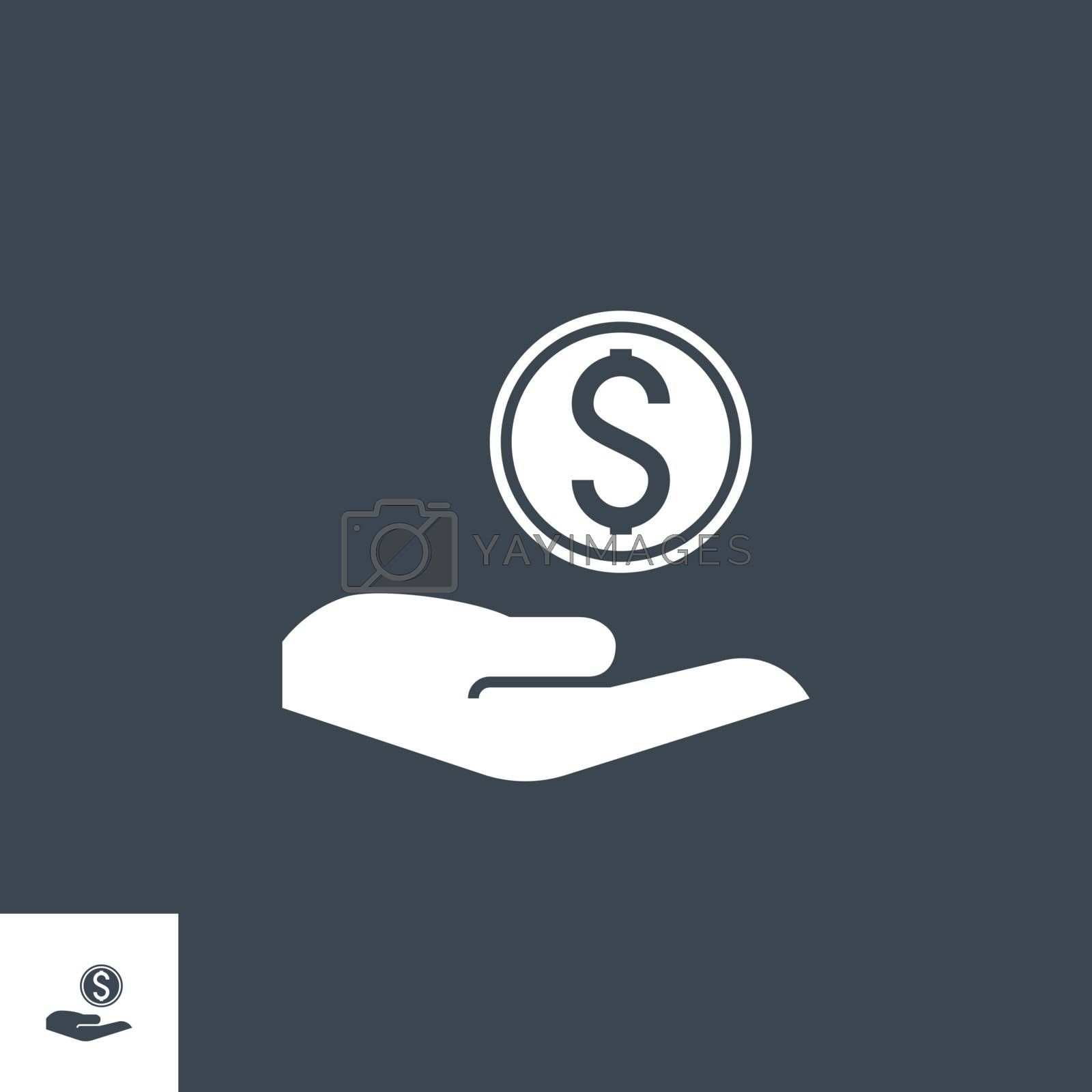 Payment related vector glyph icon. by smoki
