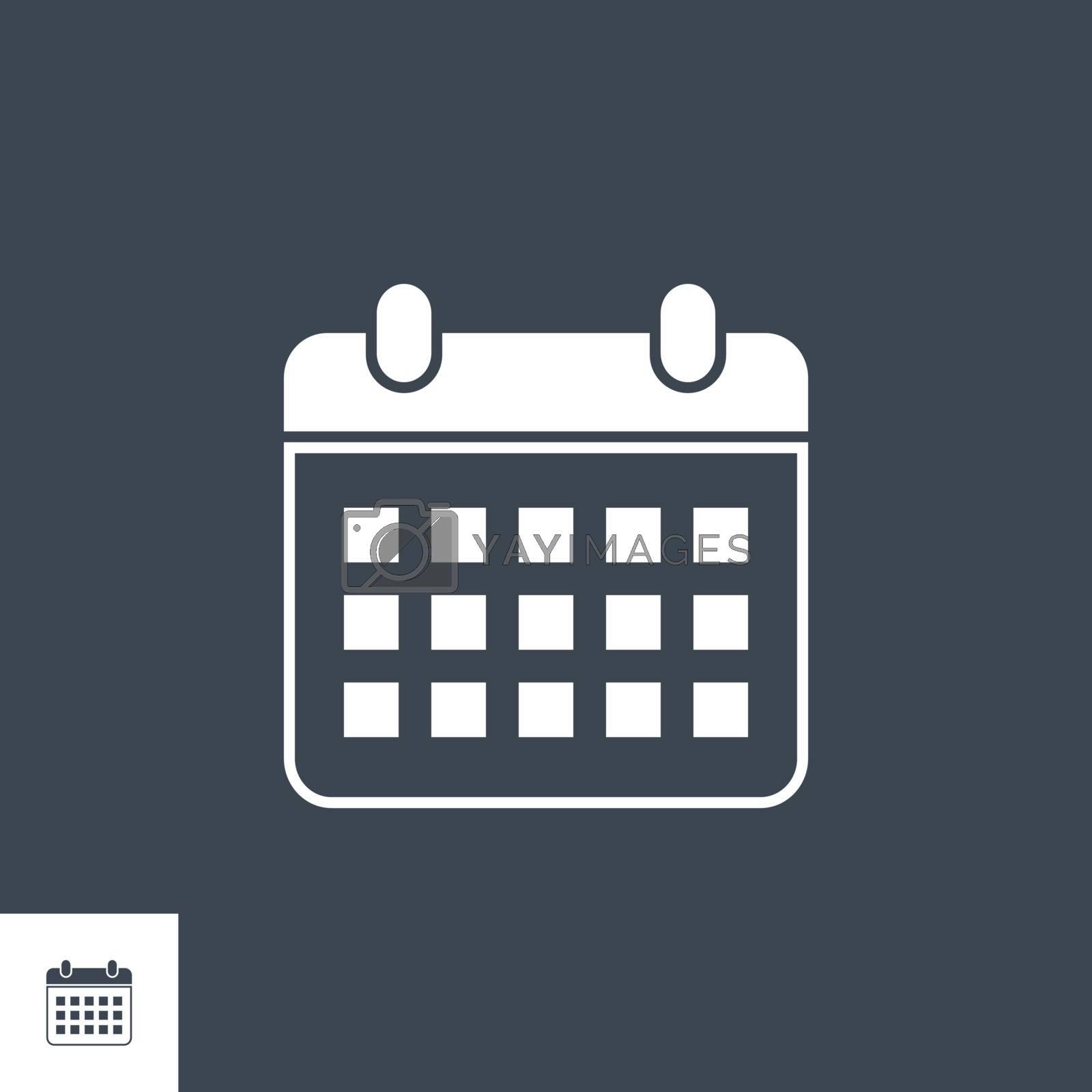Calendar related vector glyph icon. by smoki
