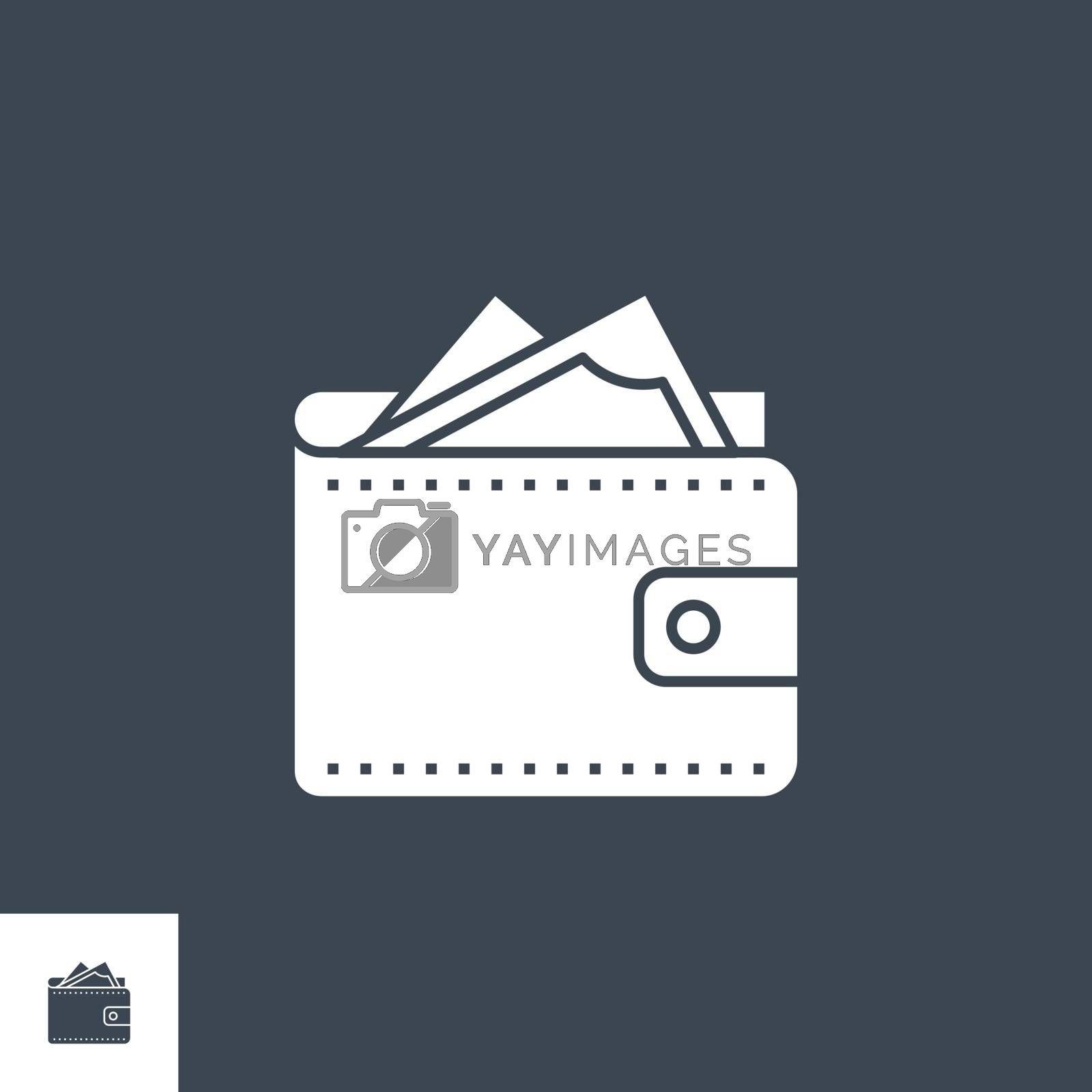 Wallet related vector glyph icon. by smoki
